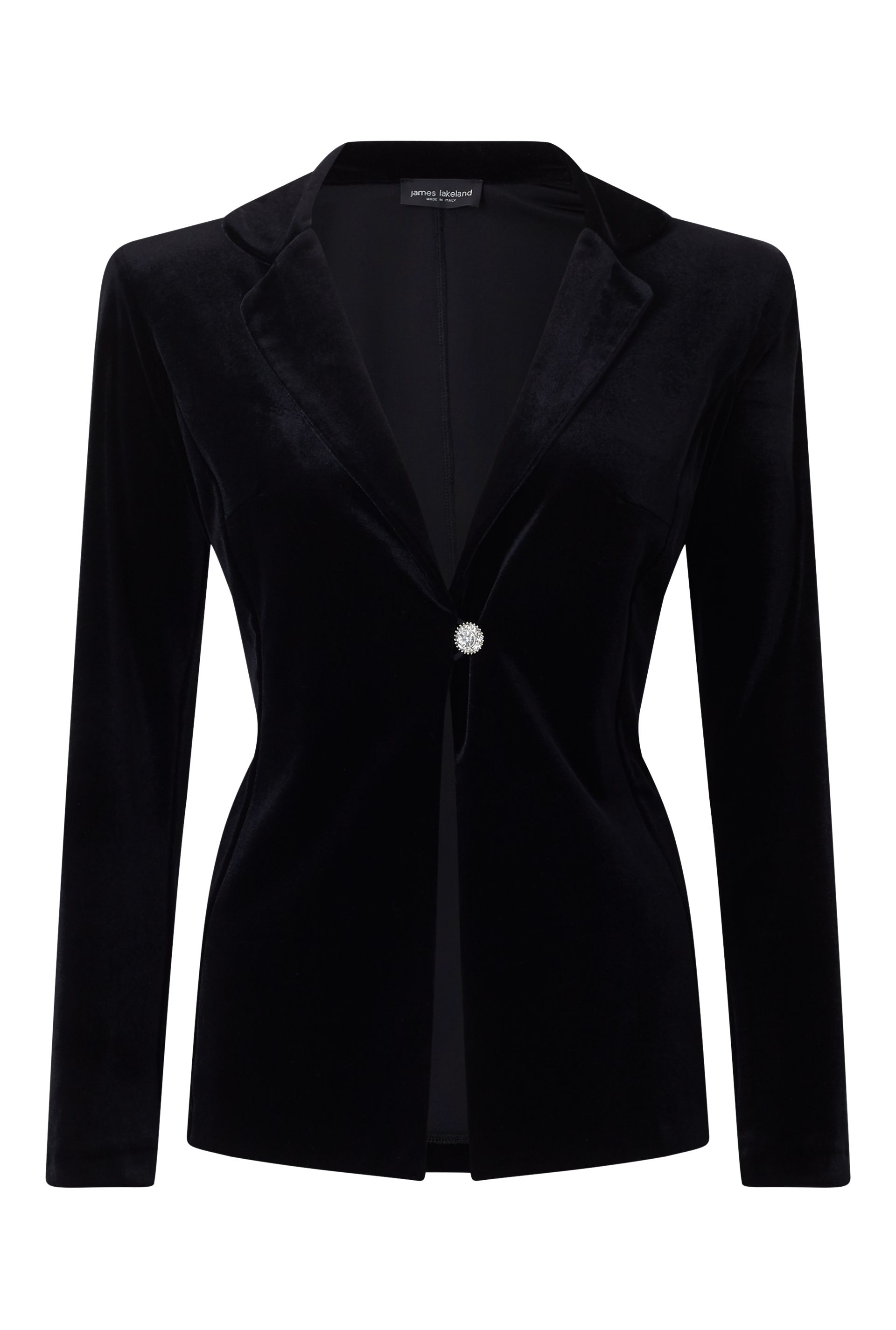 James Lakeland Velvet Diamante Jacket, Black