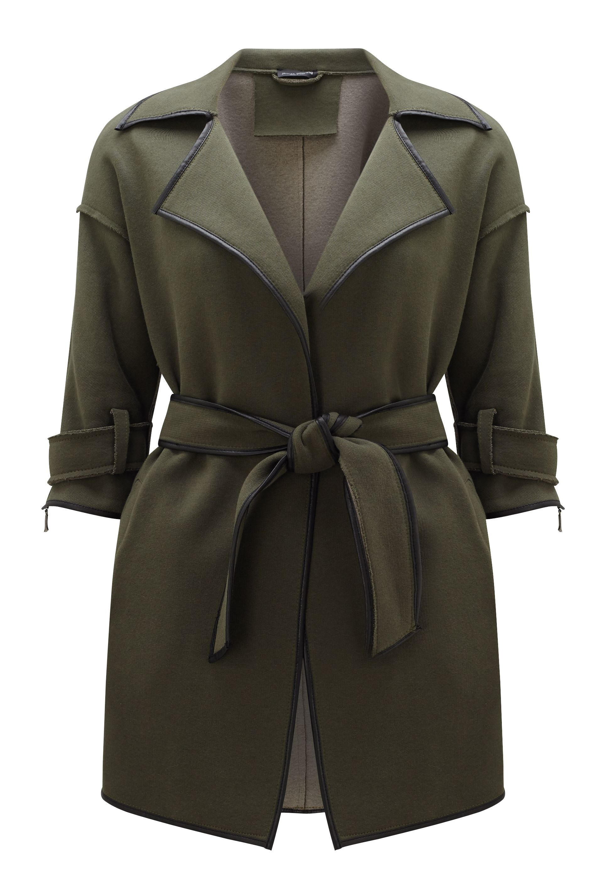 James Lakeland Trench Belt Coat, Green