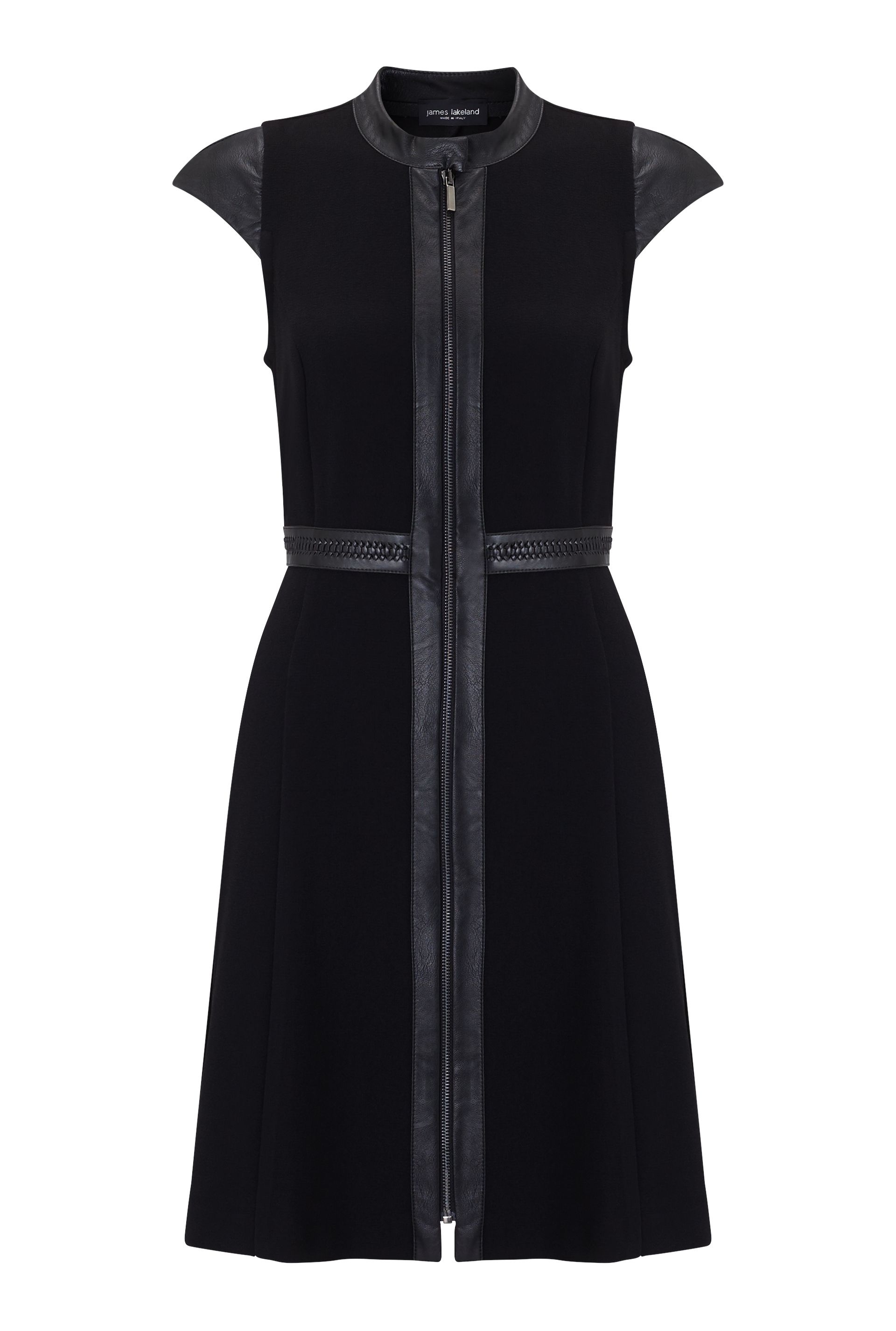 James Lakeland Insert Faux Leather Dress, Black