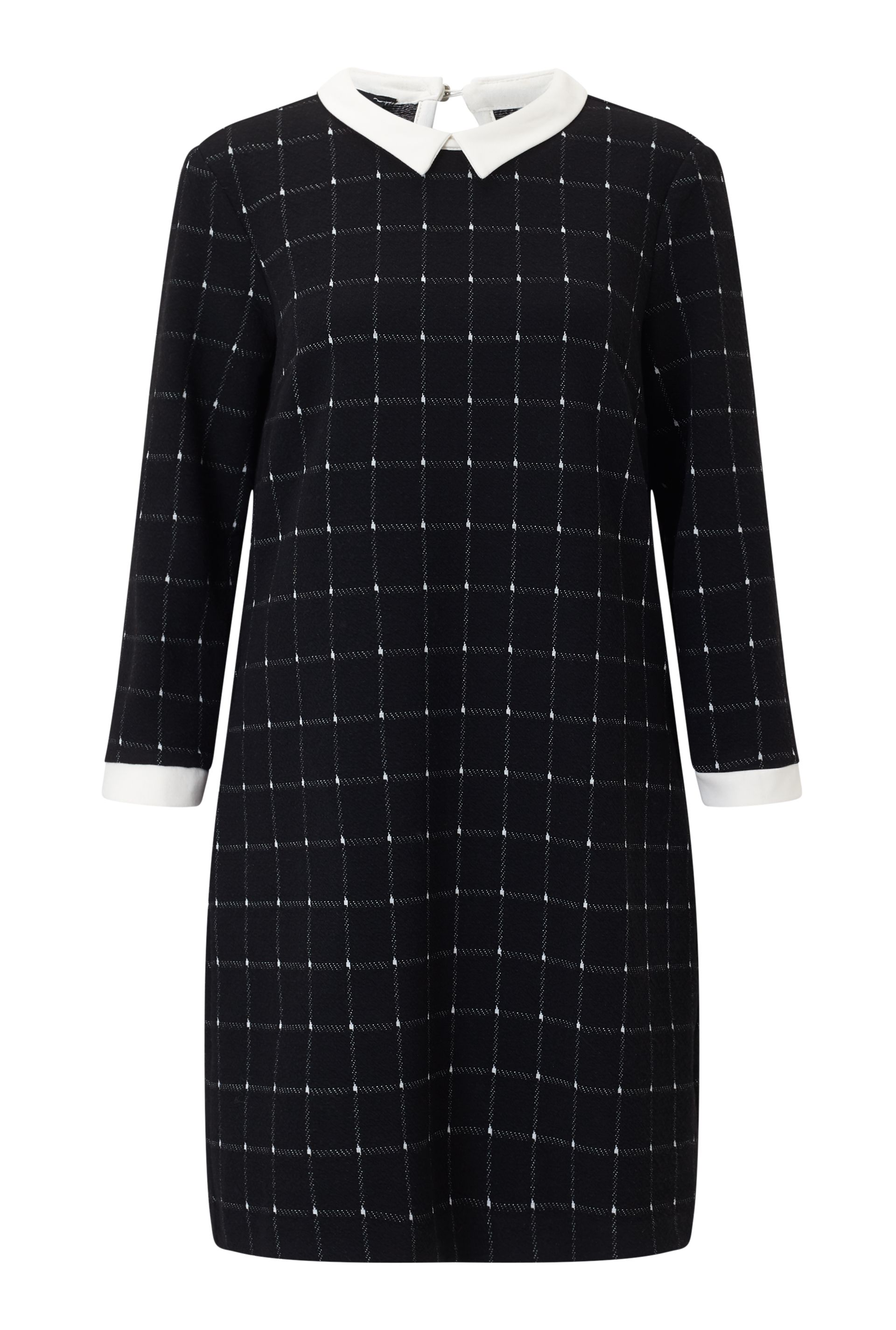 James Lakeland Check Dress, Black
