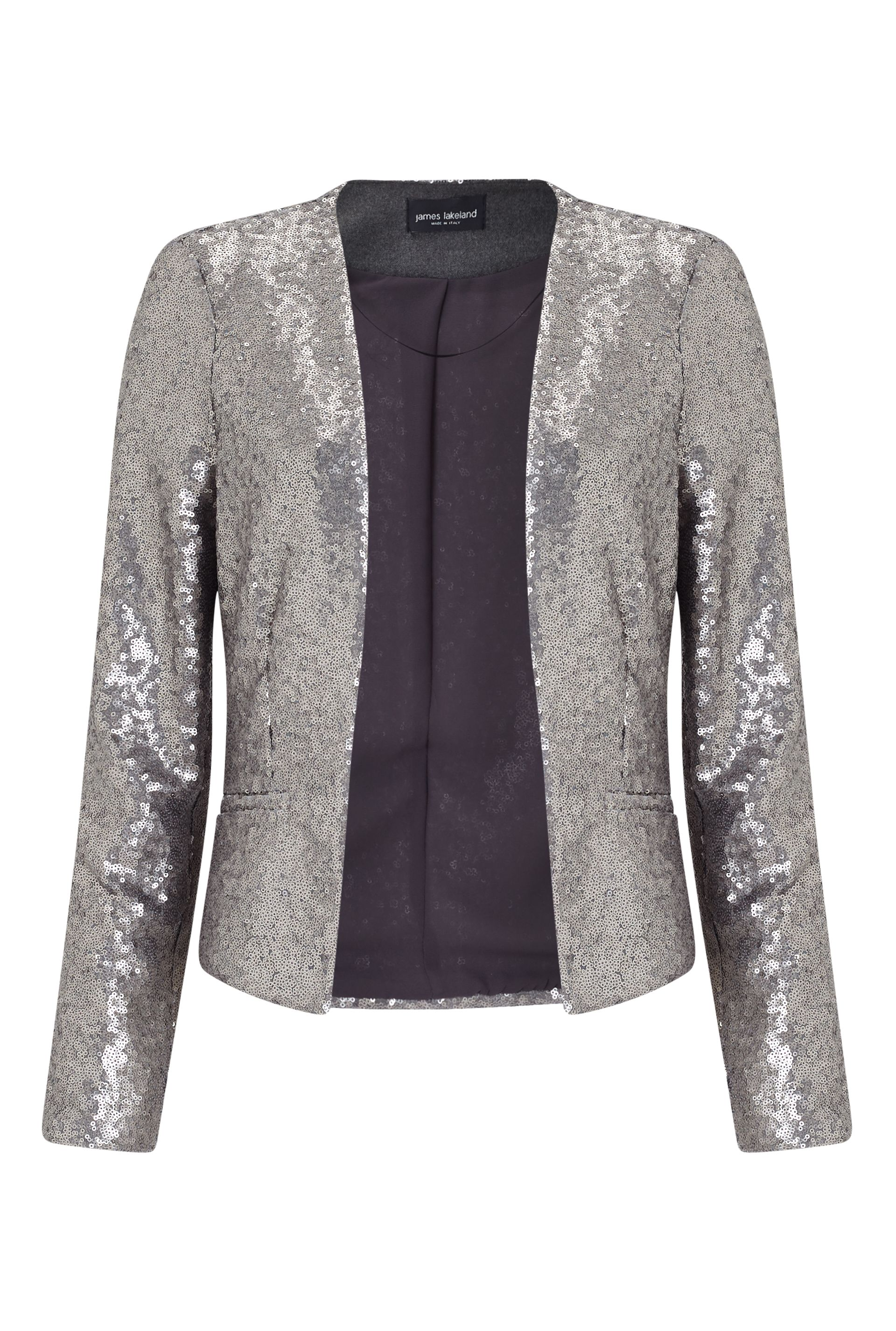 James Lakeland Sequins Jacket, Silver Silverlic