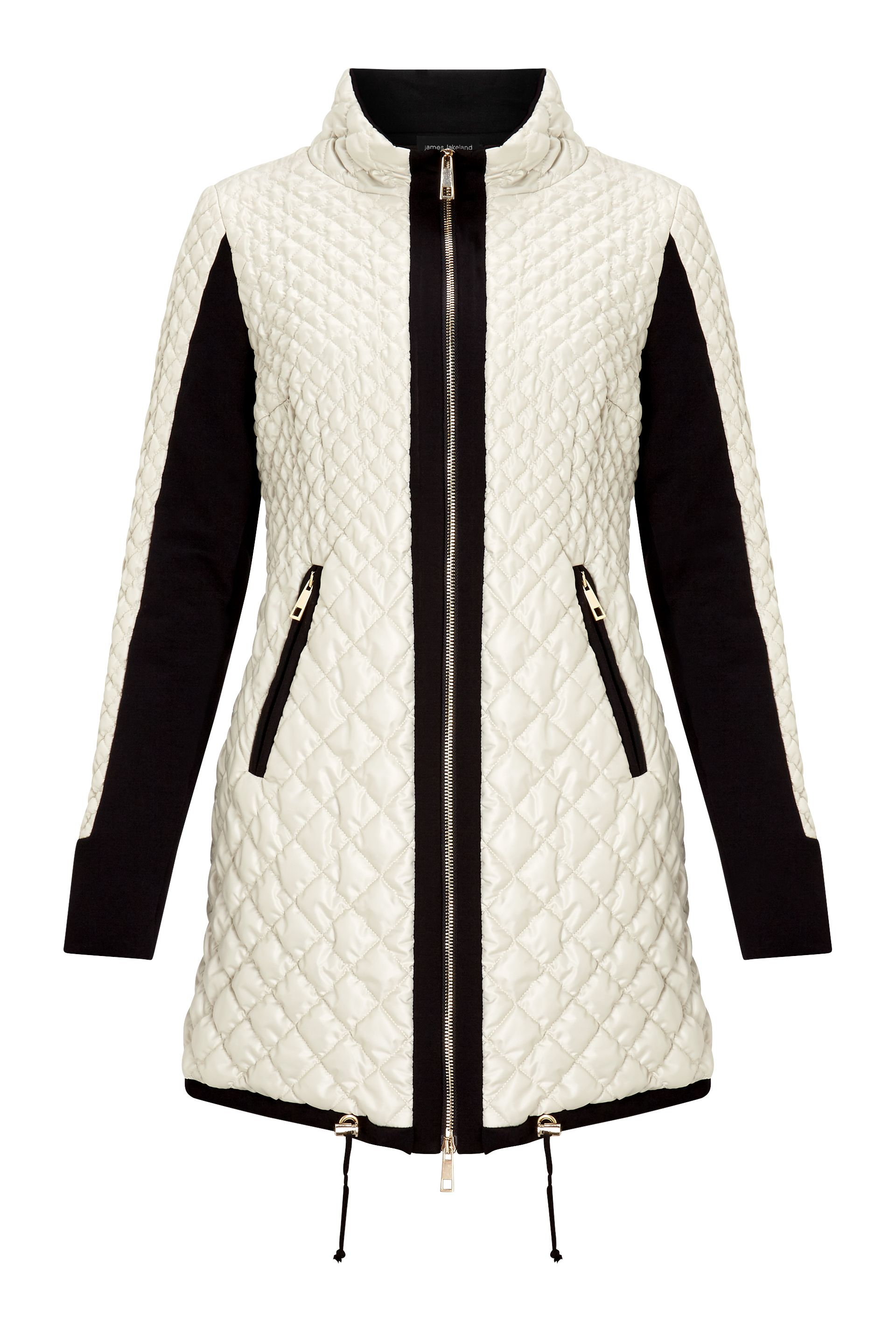 James Lakeland Quilted Puffer Jacket, Cream