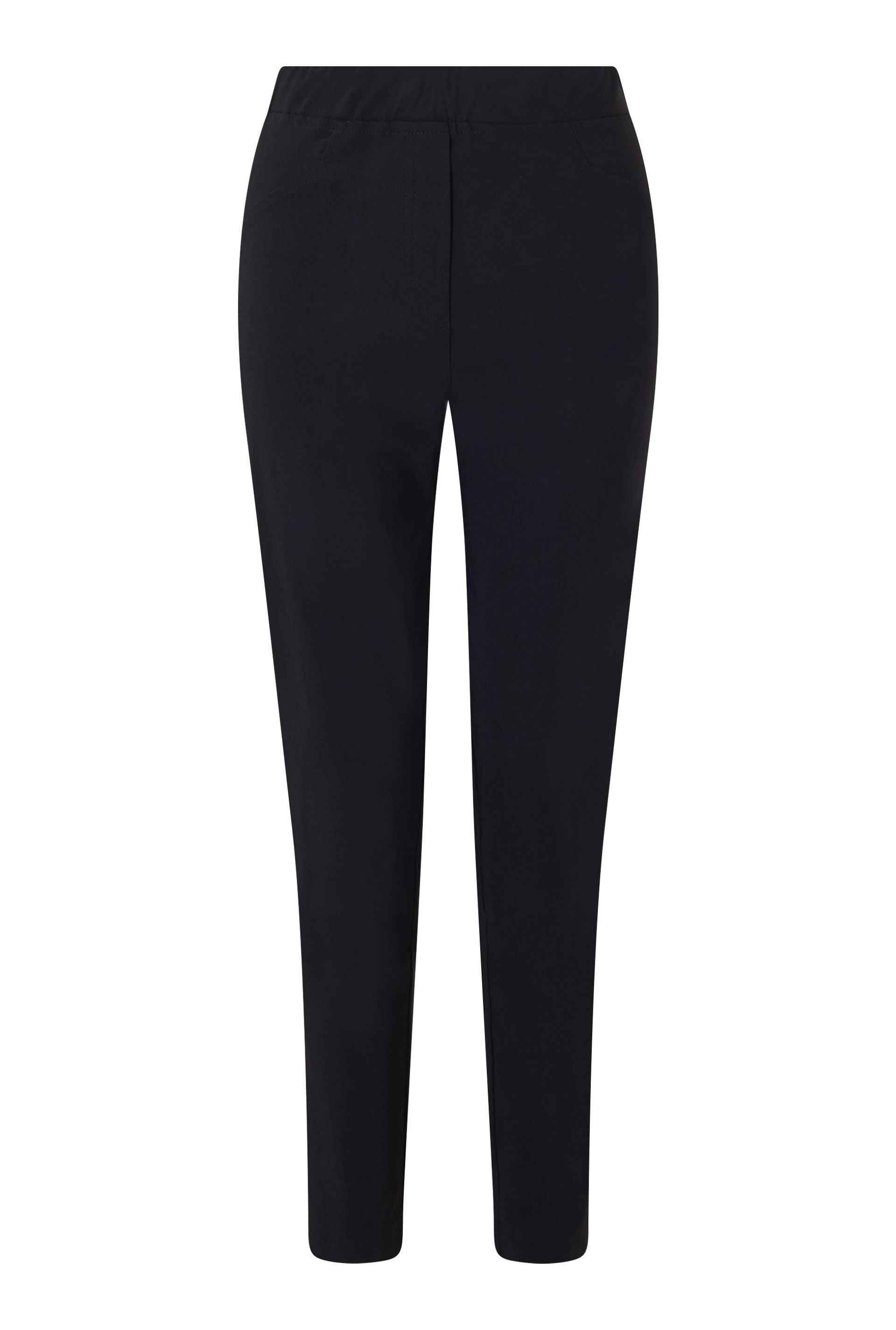 James Lakeland Long Length Pull On Trousers, Black