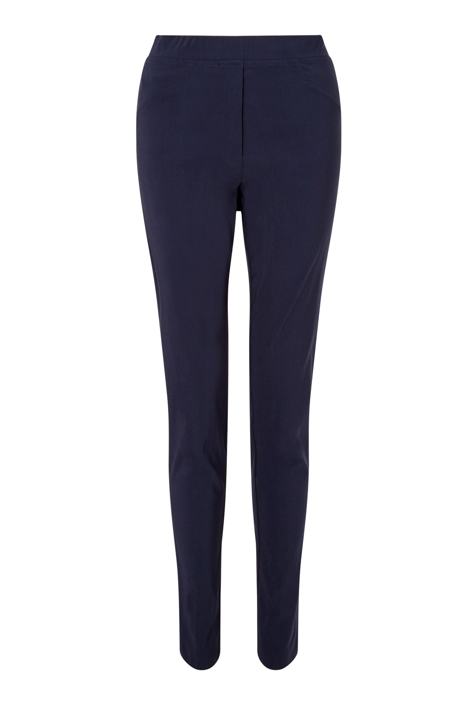 James Lakeland Long Length Pull On Trousers, Blue
