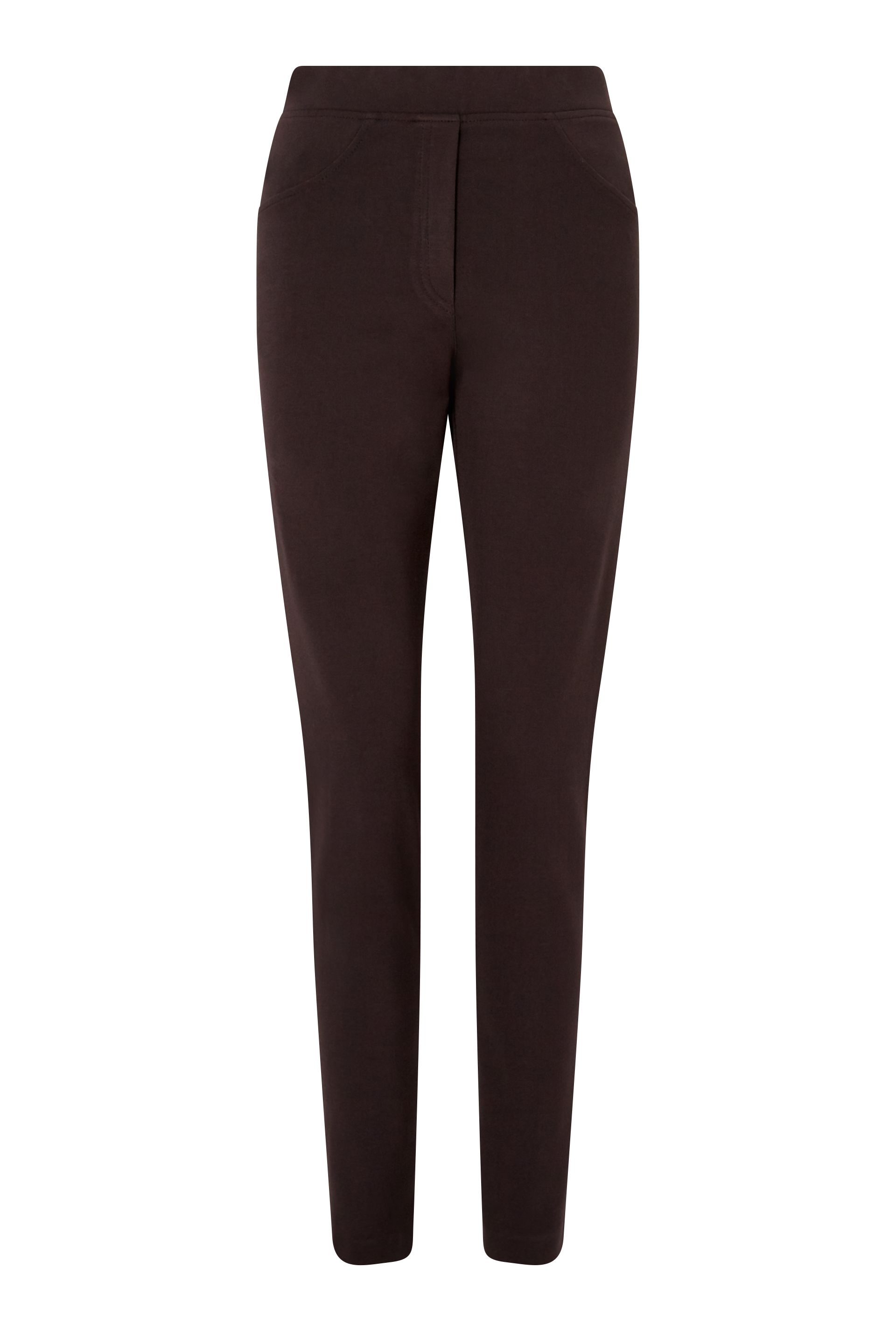James Lakeland Slim Leg Pull On Trouser, Brown