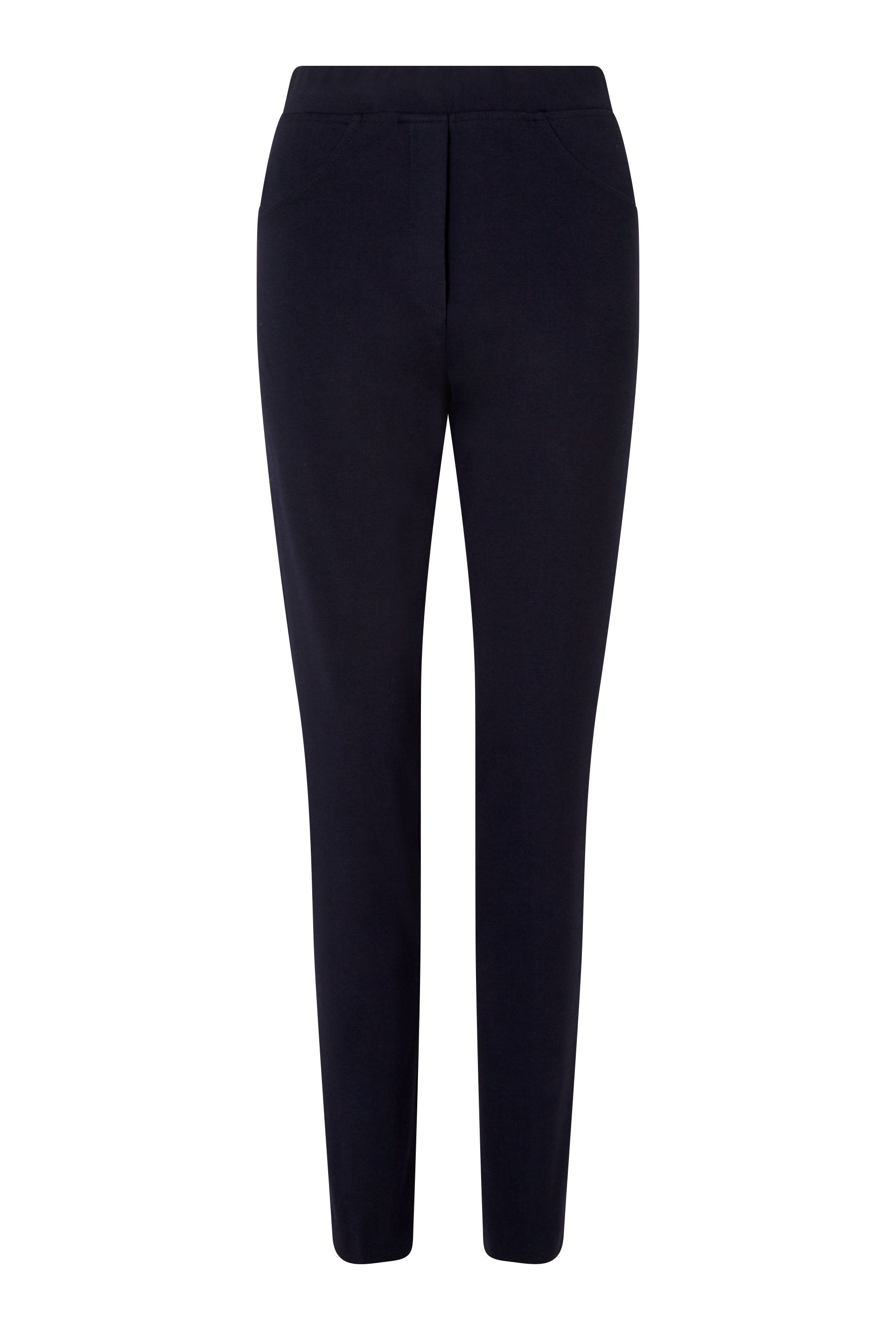 James Lakeland Slim Leg Pull On Trouser, Blue