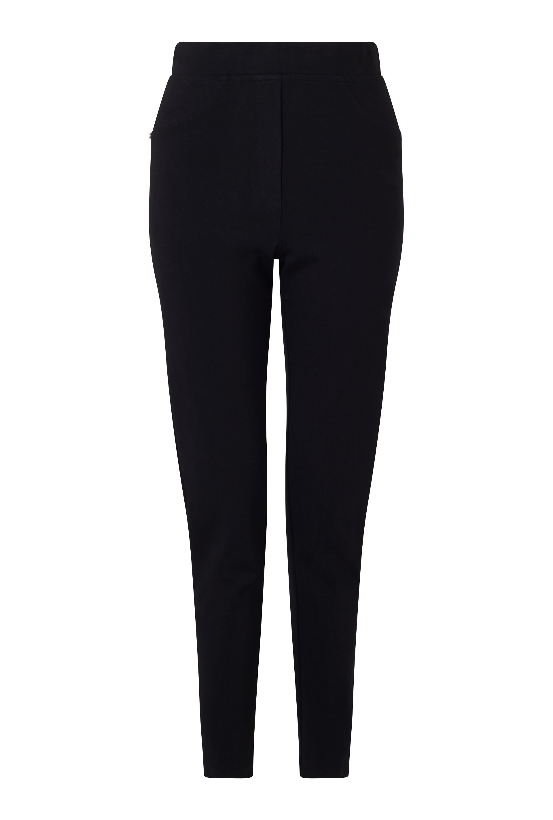 James Lakeland Slim Leg Pull On Trouser, Black