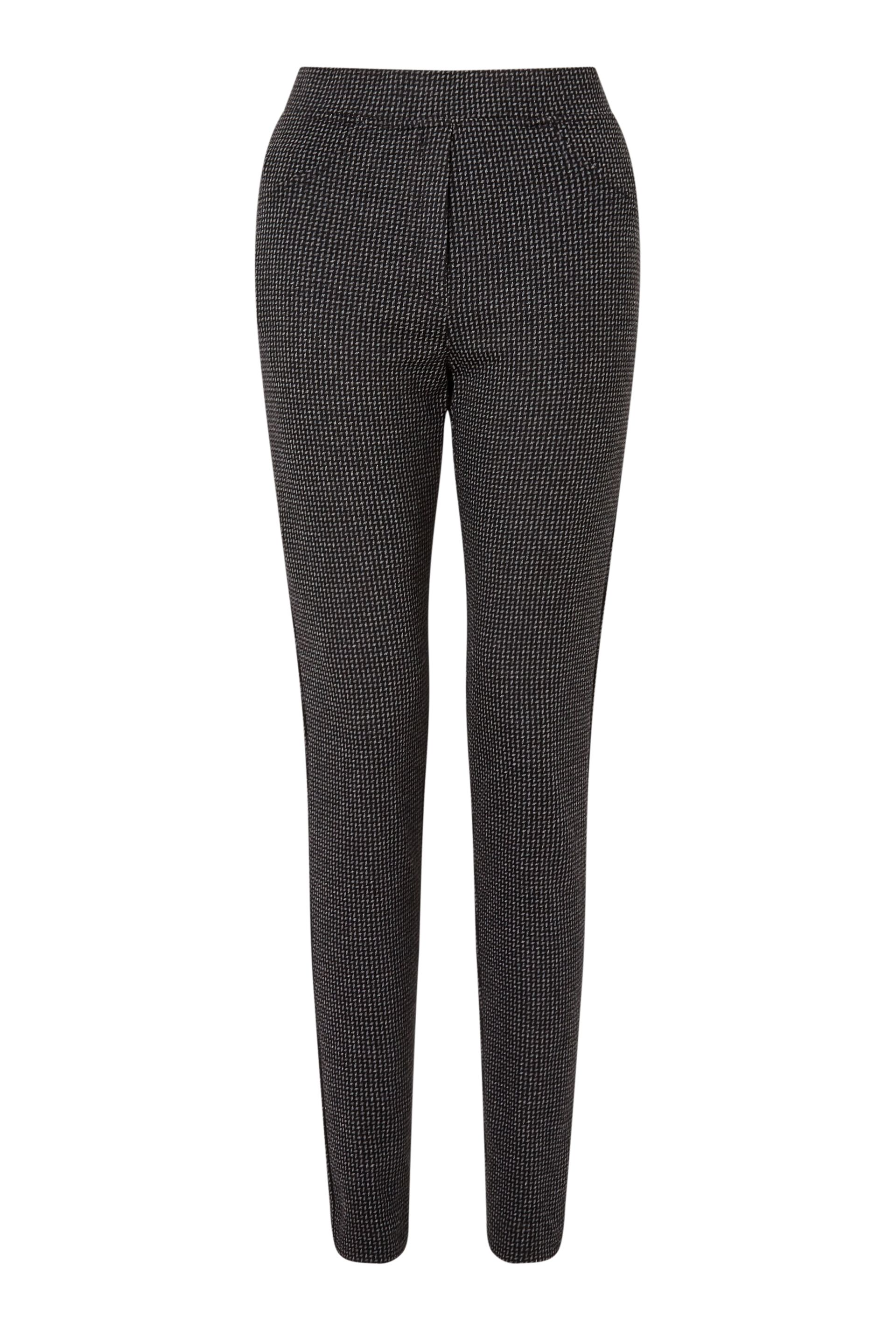 James Lakeland Jacquard Slim Leg Trouser, Grey