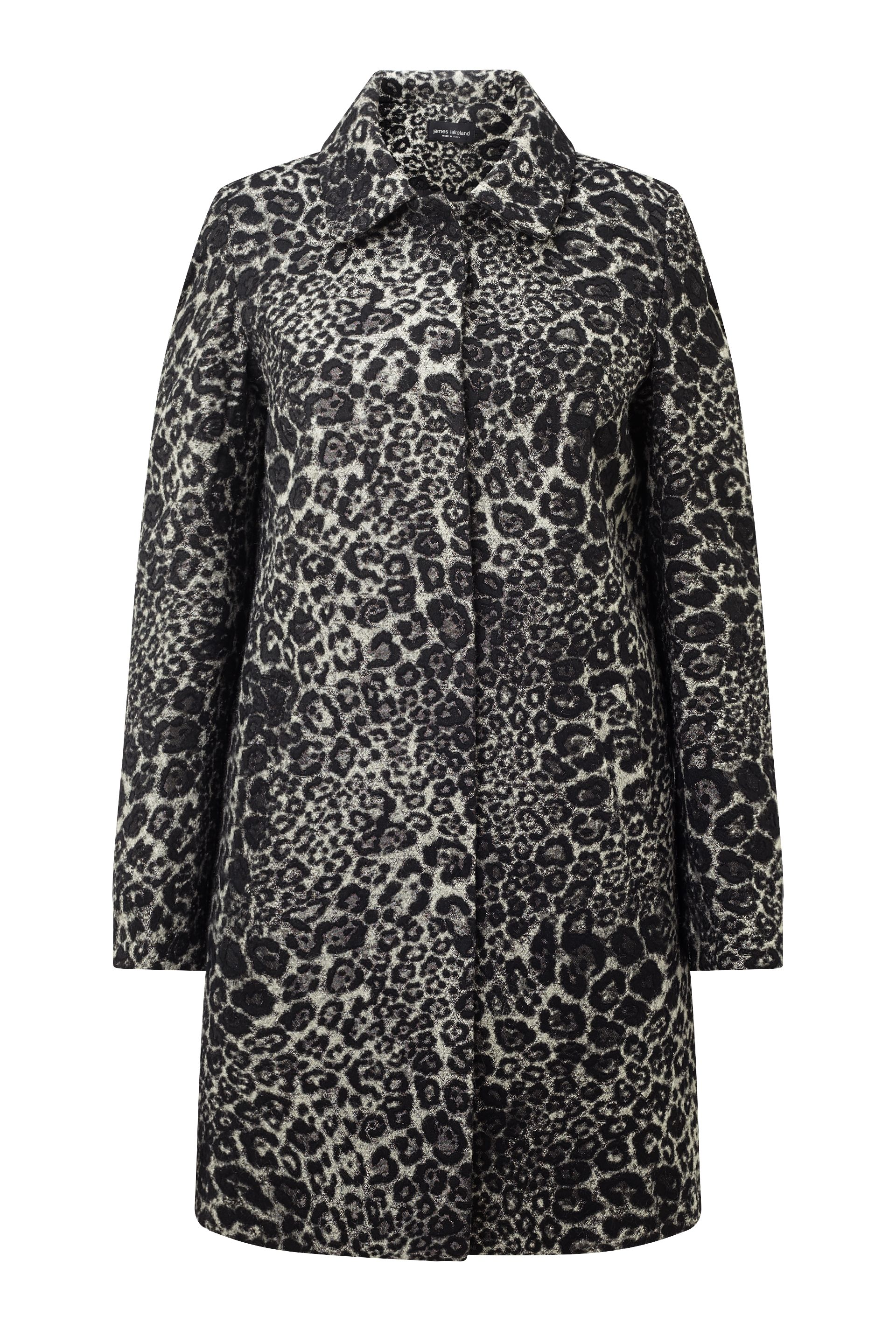James Lakeland Leopard Coat, Black
