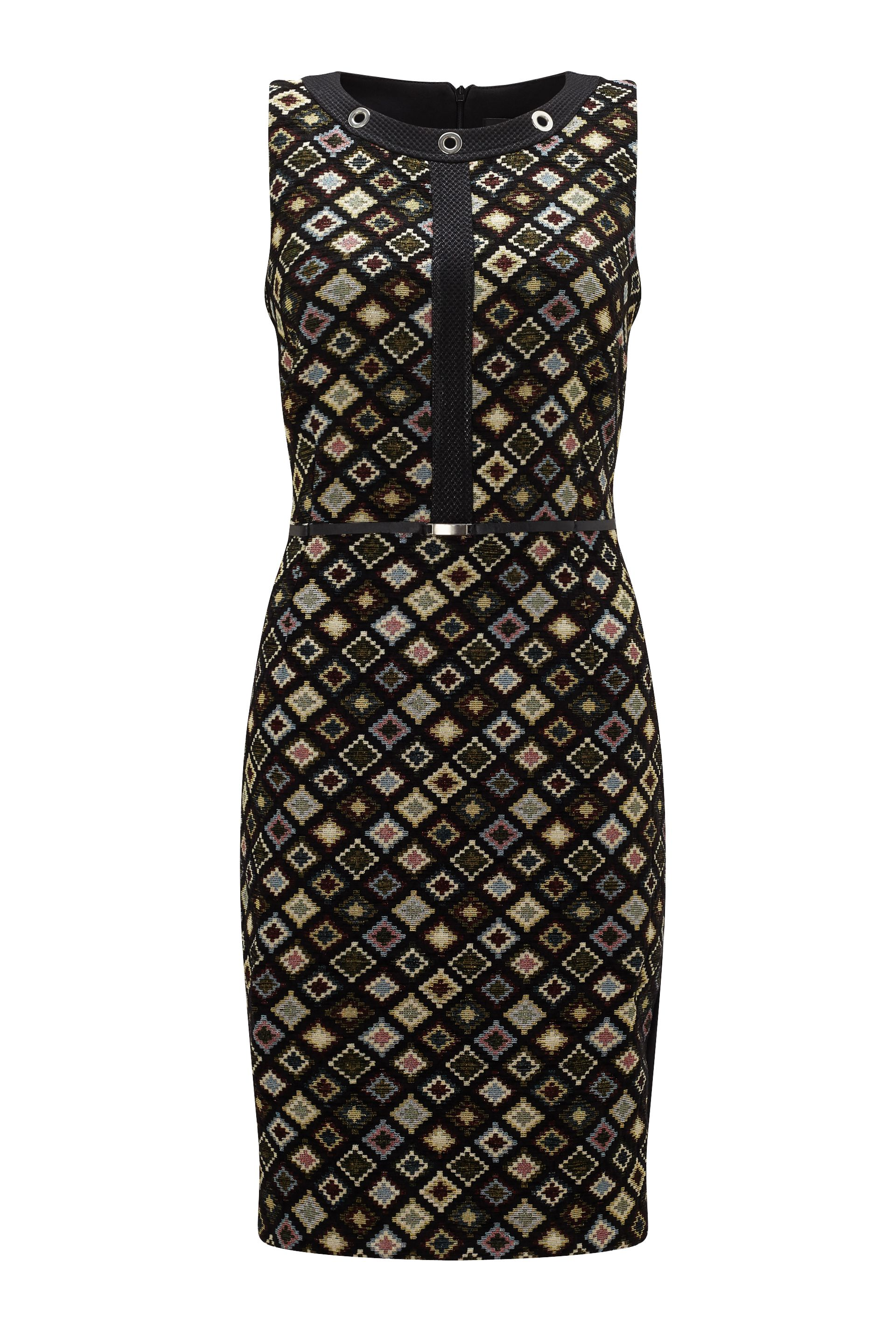 James Lakeland Jacquard Pattern Dress, Black