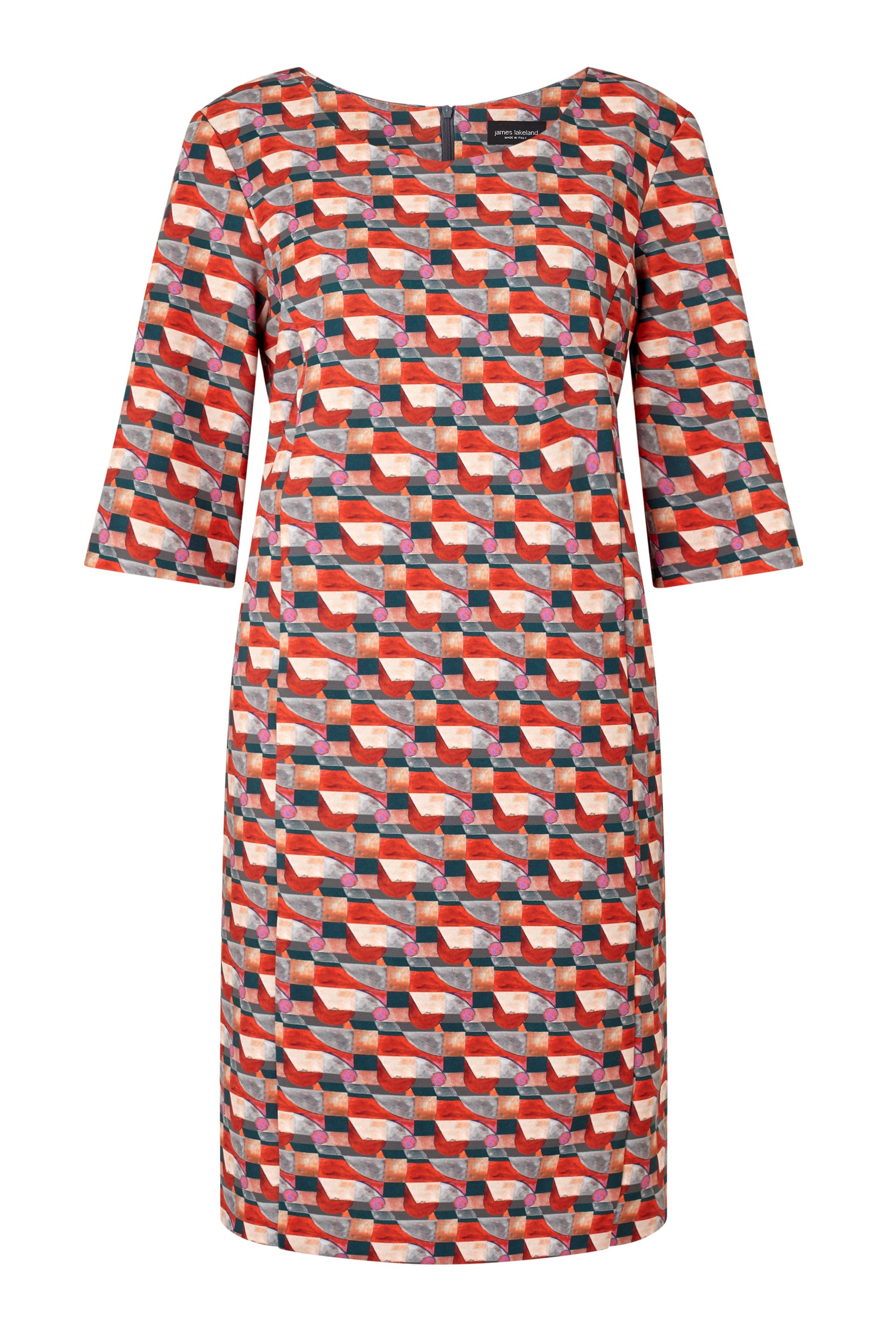 James Lakeland Printed Shift Dress, Orange