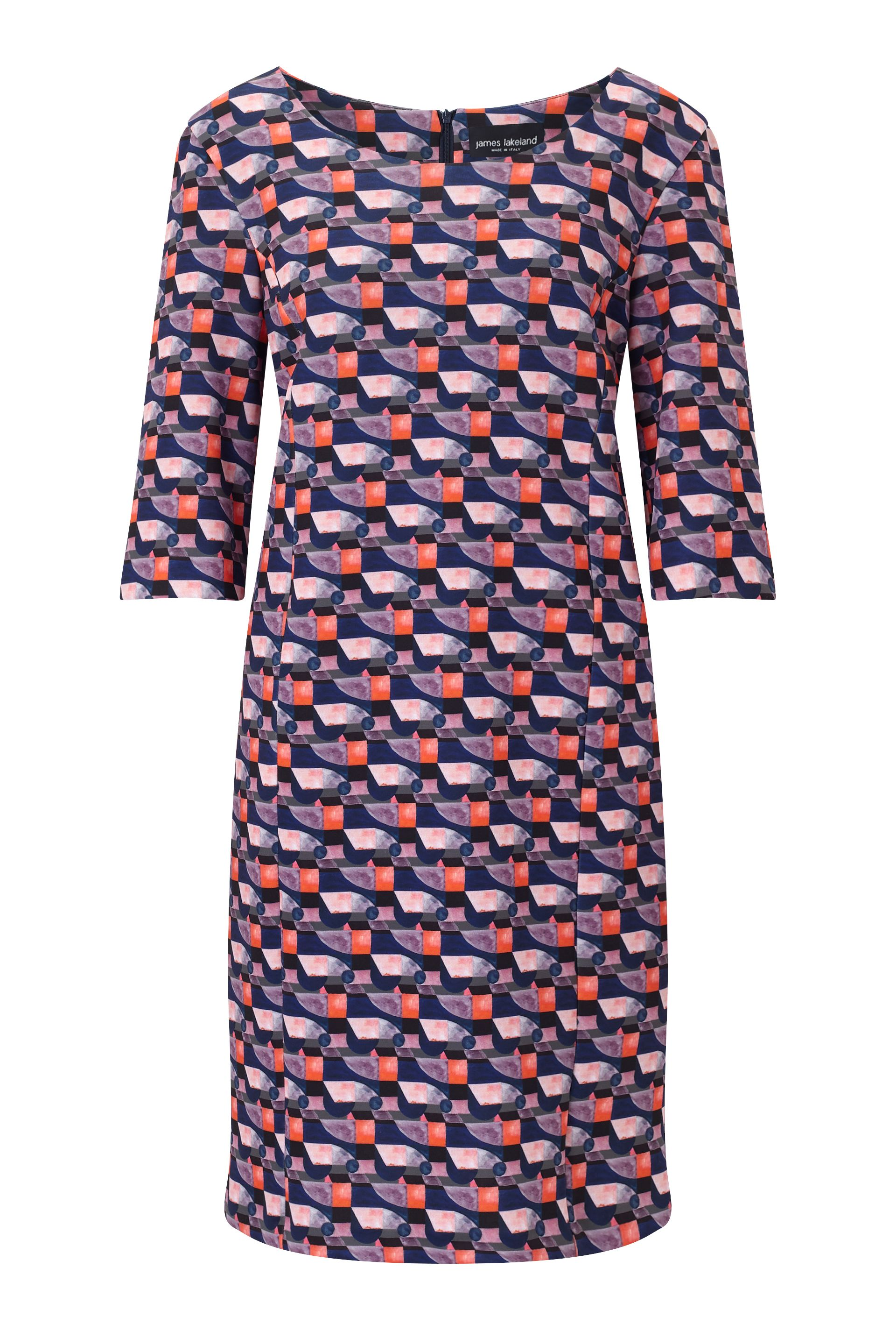 James Lakeland Printed Shift Dress, Pink