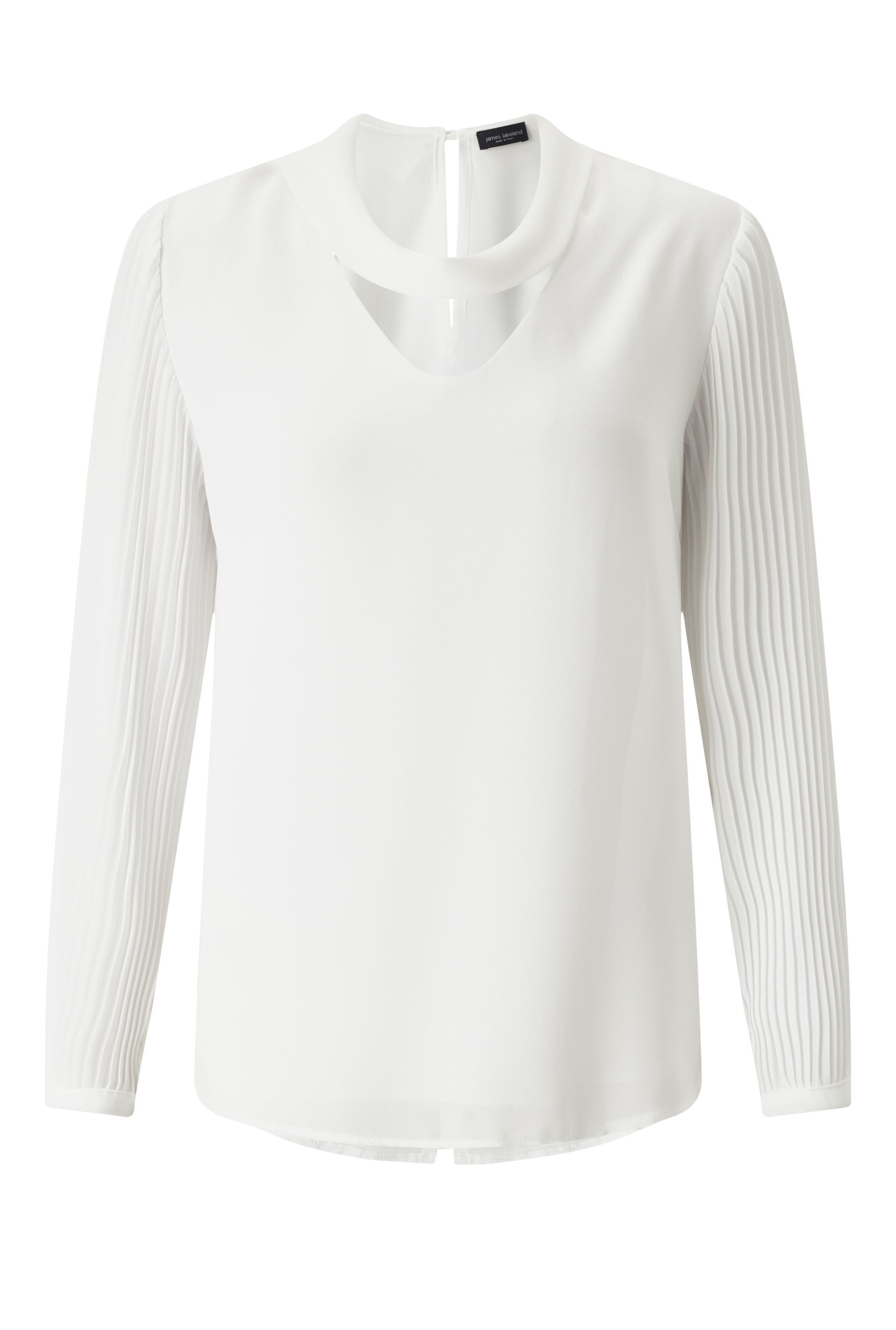 James Lakeland Pleat Sleeve Blouse, White