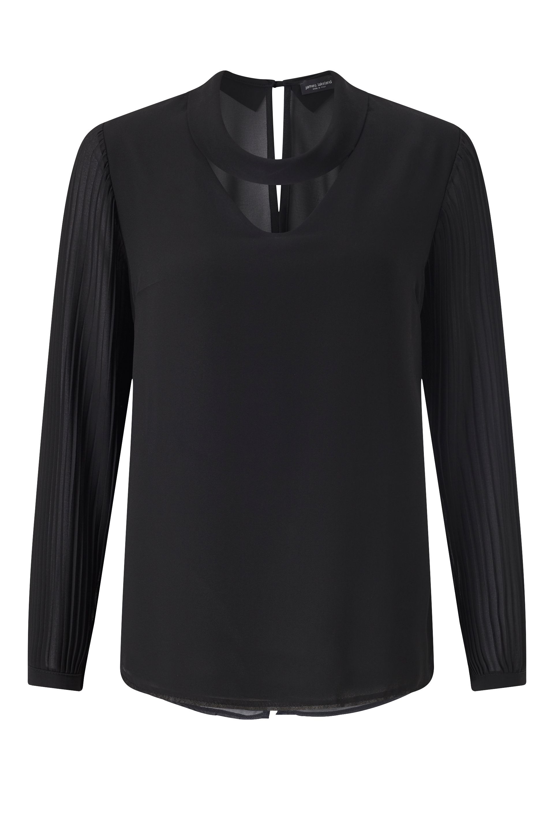 James Lakeland Pleat Sleeve Blouse, Black