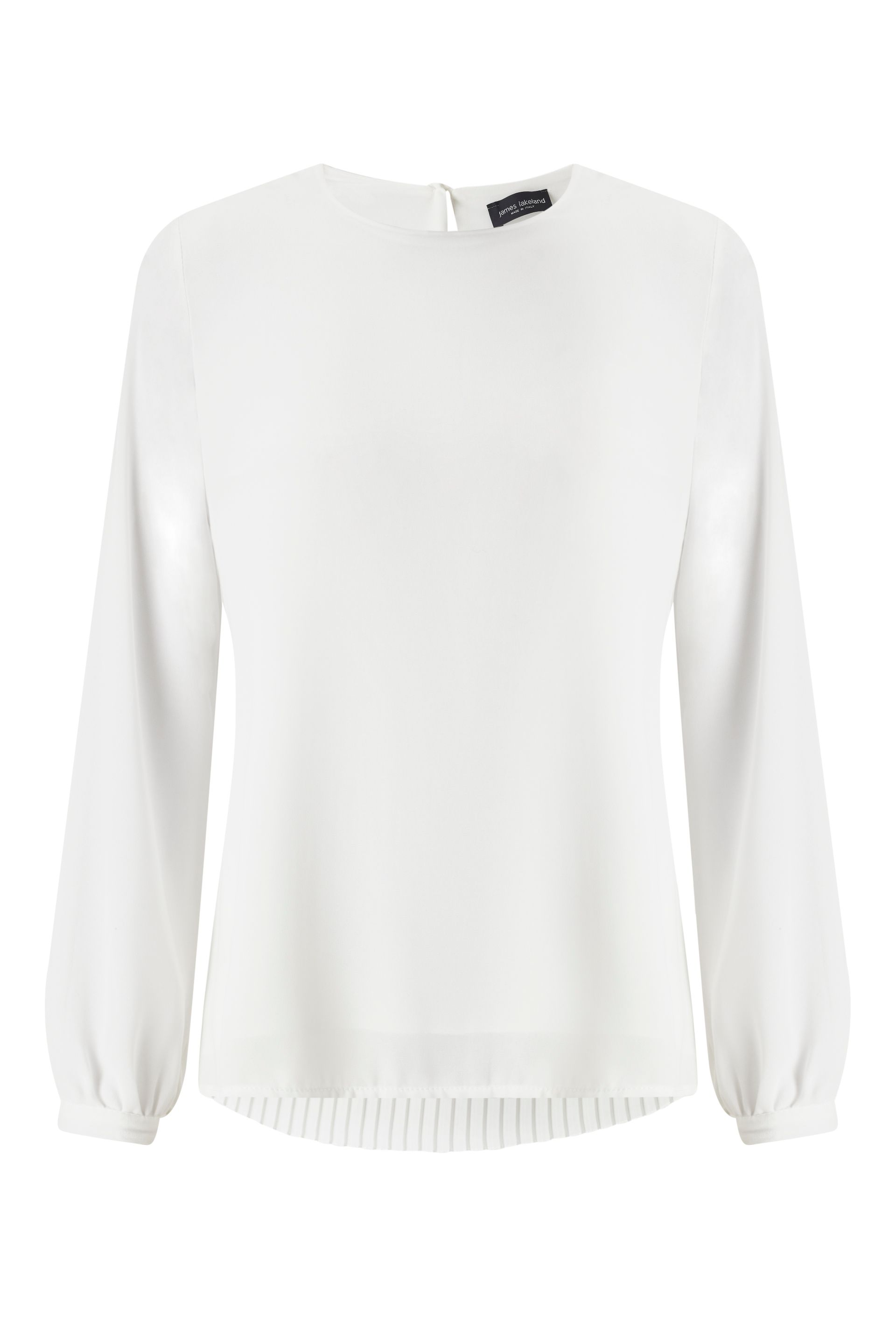 James Lakeland Pleat Back Blouse, White