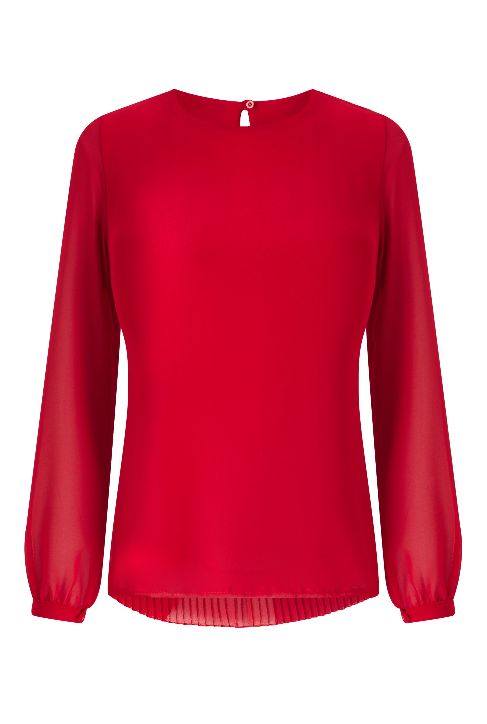 James Lakeland Pleat Back Blouse, Red