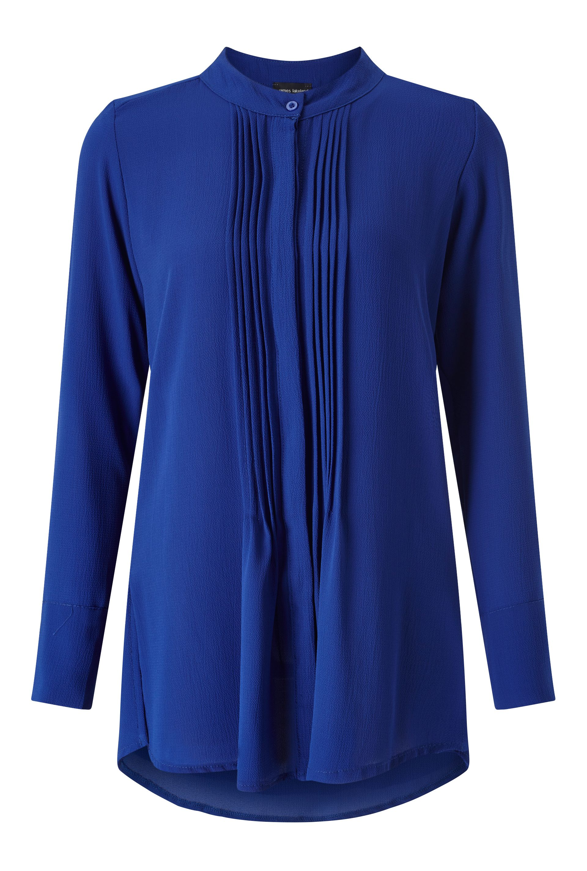 James Lakeland Pleat Front Blouse, Blue