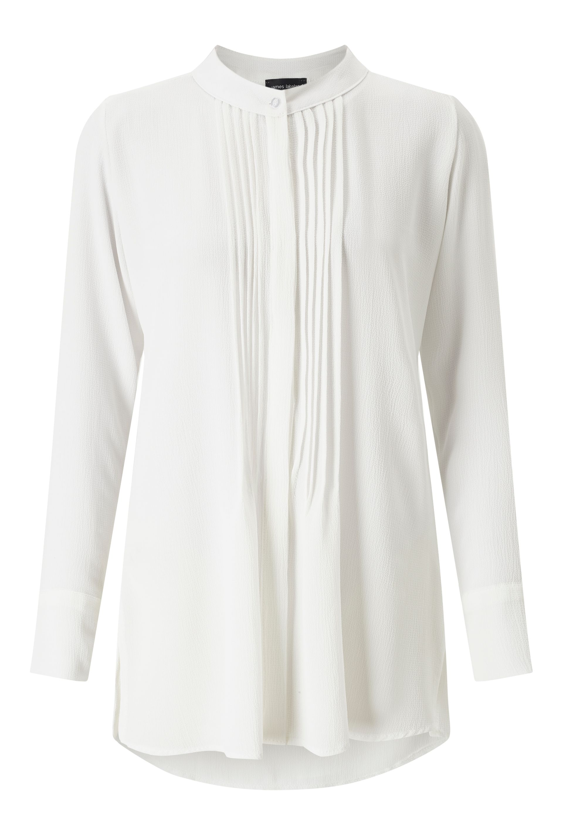 James Lakeland Pleat Front Blouse, Snow