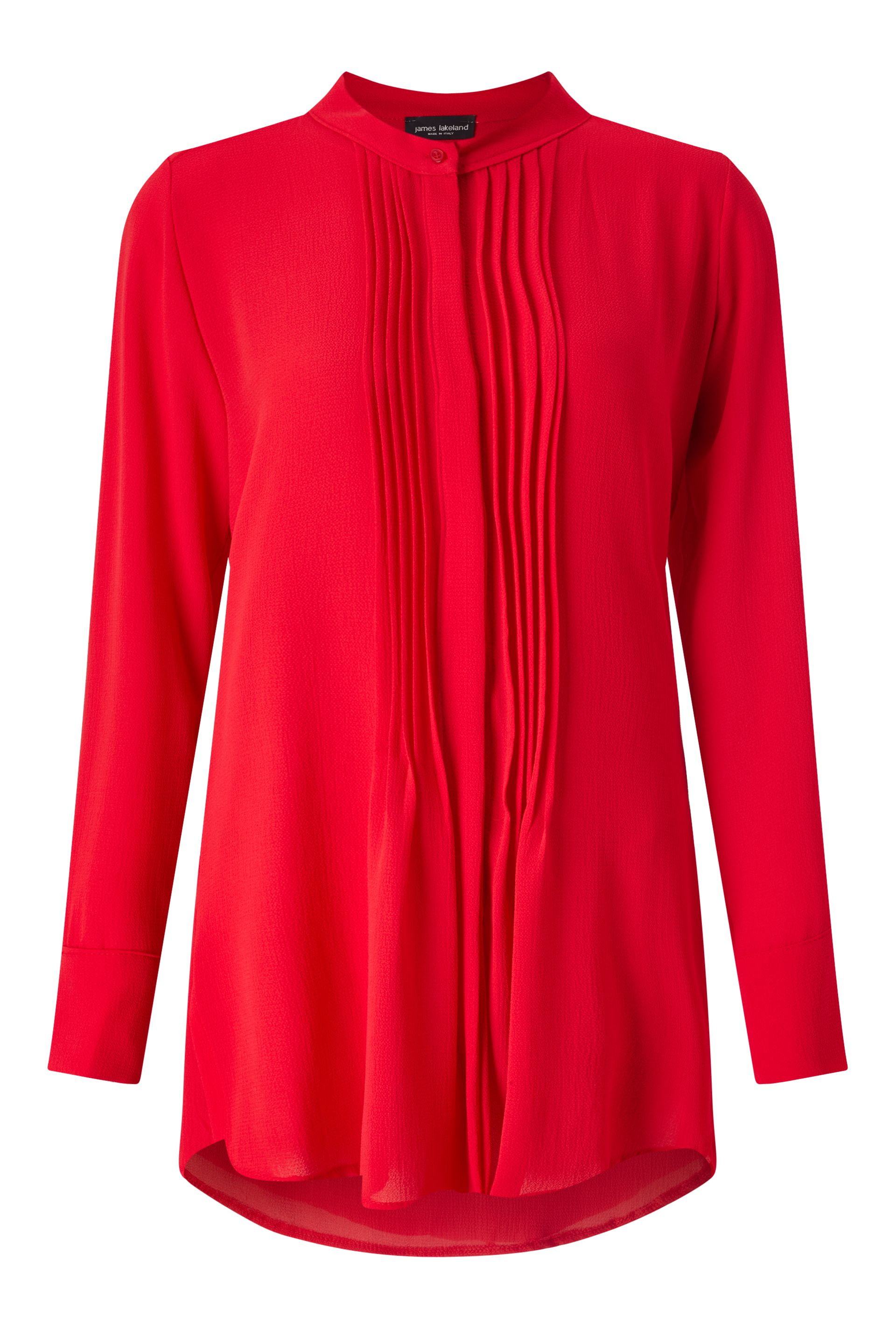 James Lakeland Pleat Front Blouse, Red