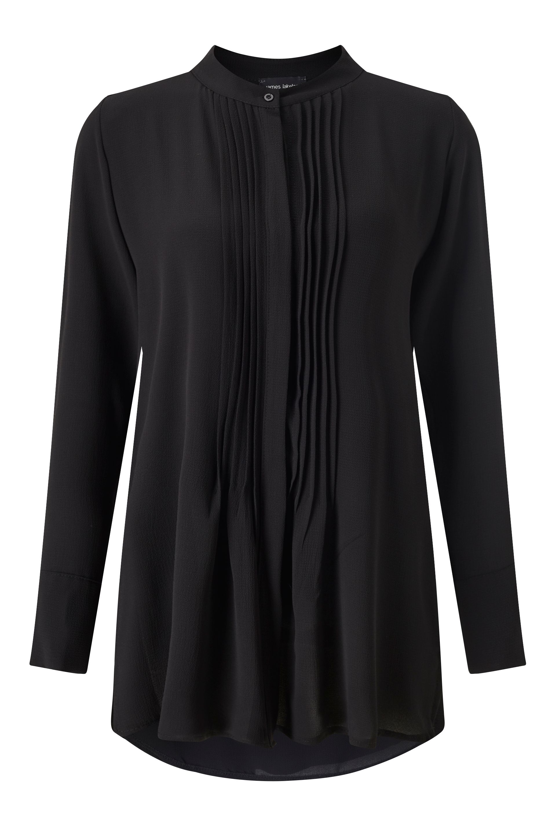 James Lakeland Pleat Front Blouse, Black