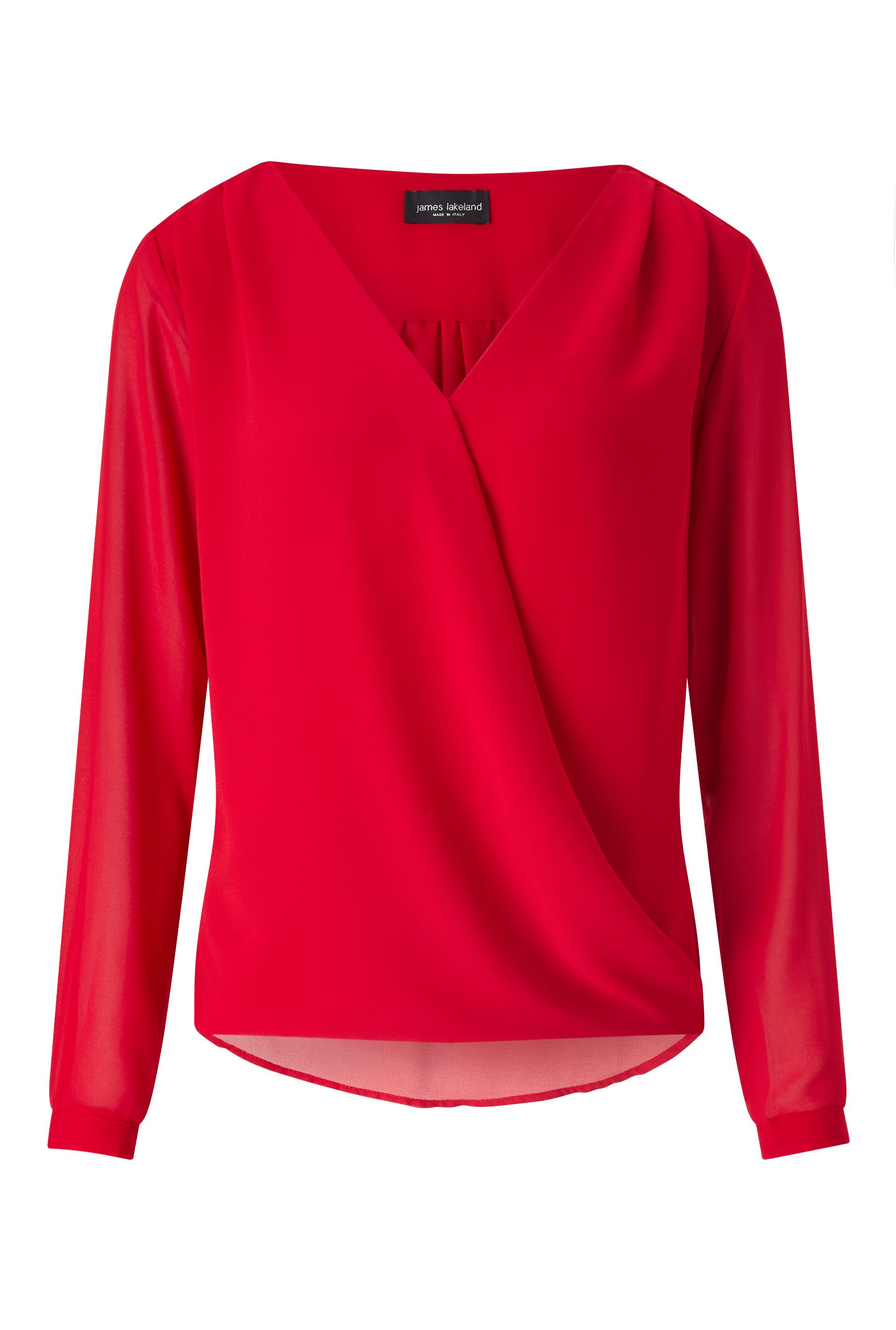 James Lakeland Crossover Blouse, Red