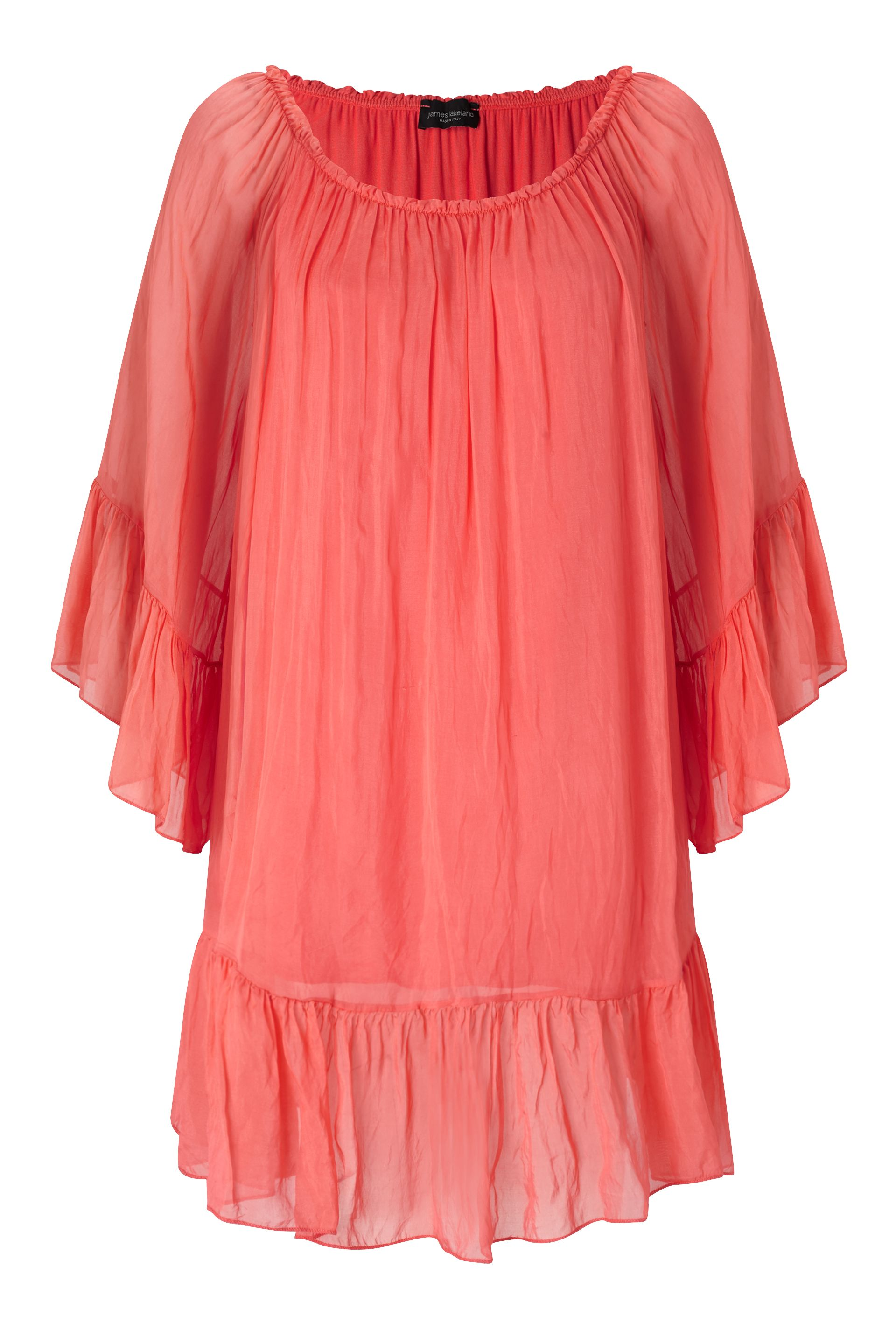 James Lakeland Silk Tunic, Orange