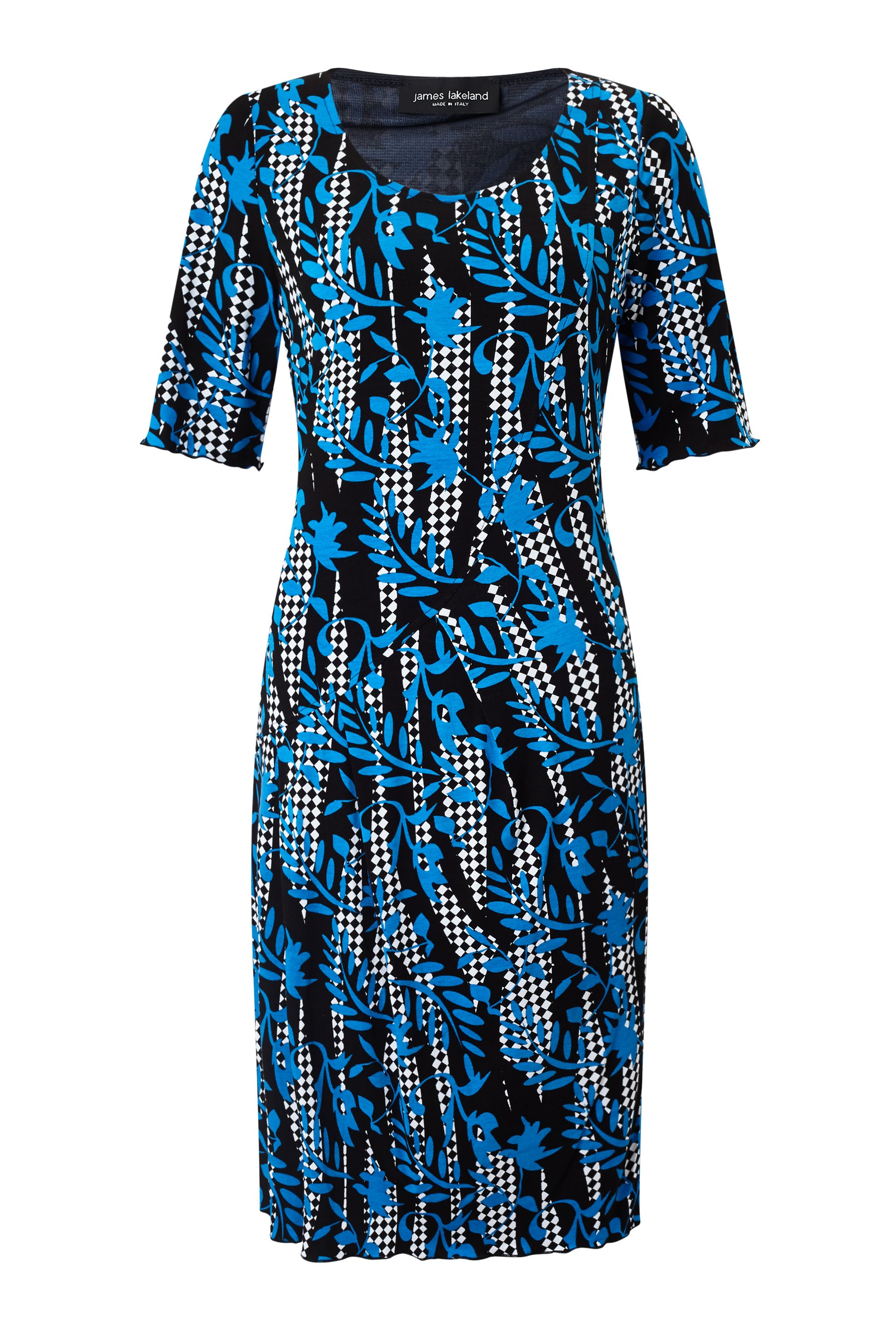 James Lakeland Printed Cut Pleat Dress, Blue