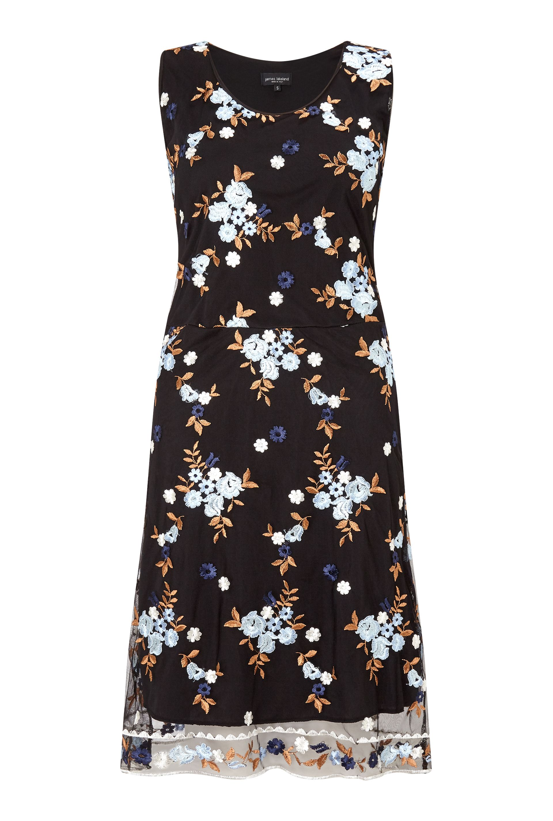 James Lakeland Embroidered Dress, Blue