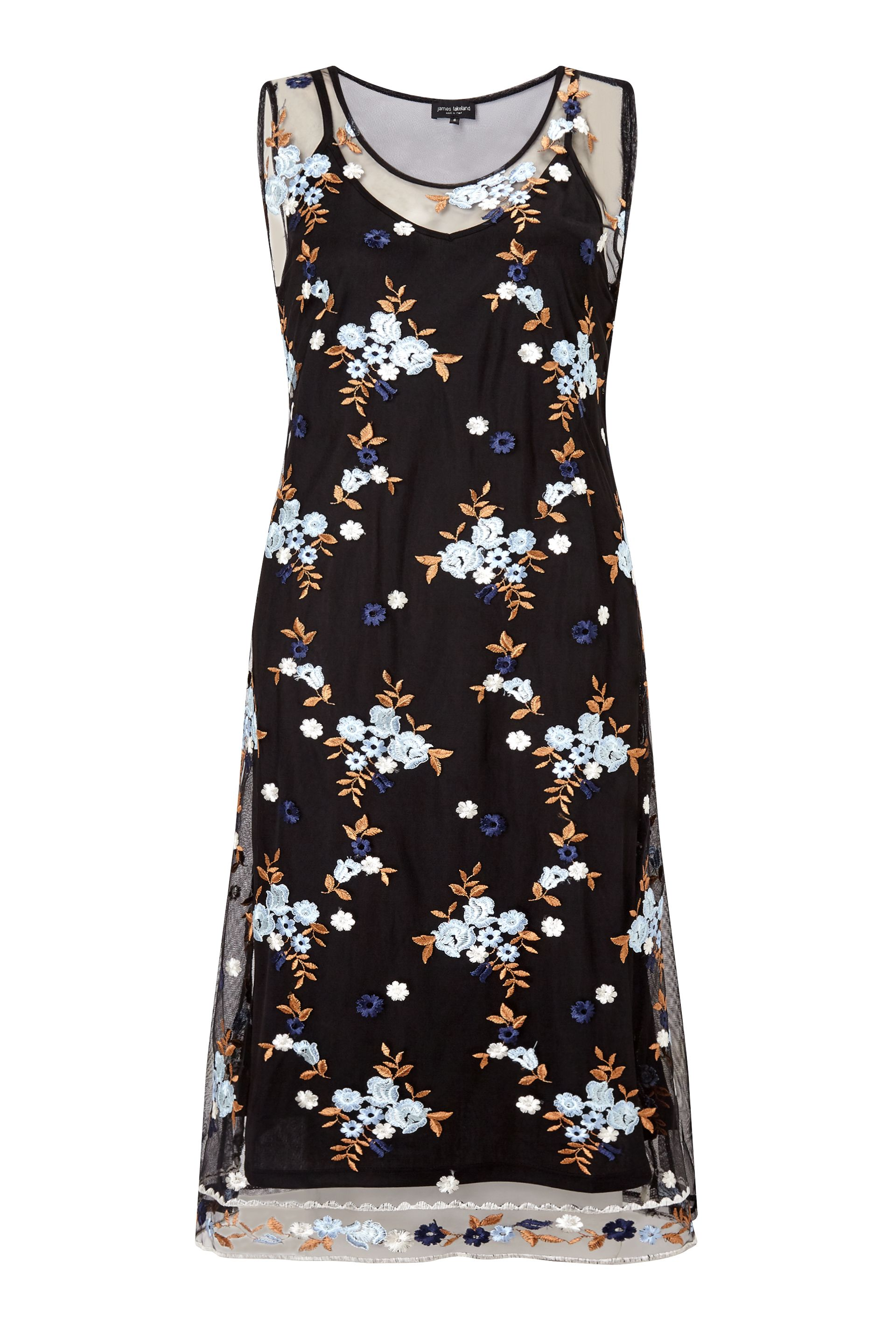 James Lakeland Embroidered Midi Dress, Blue