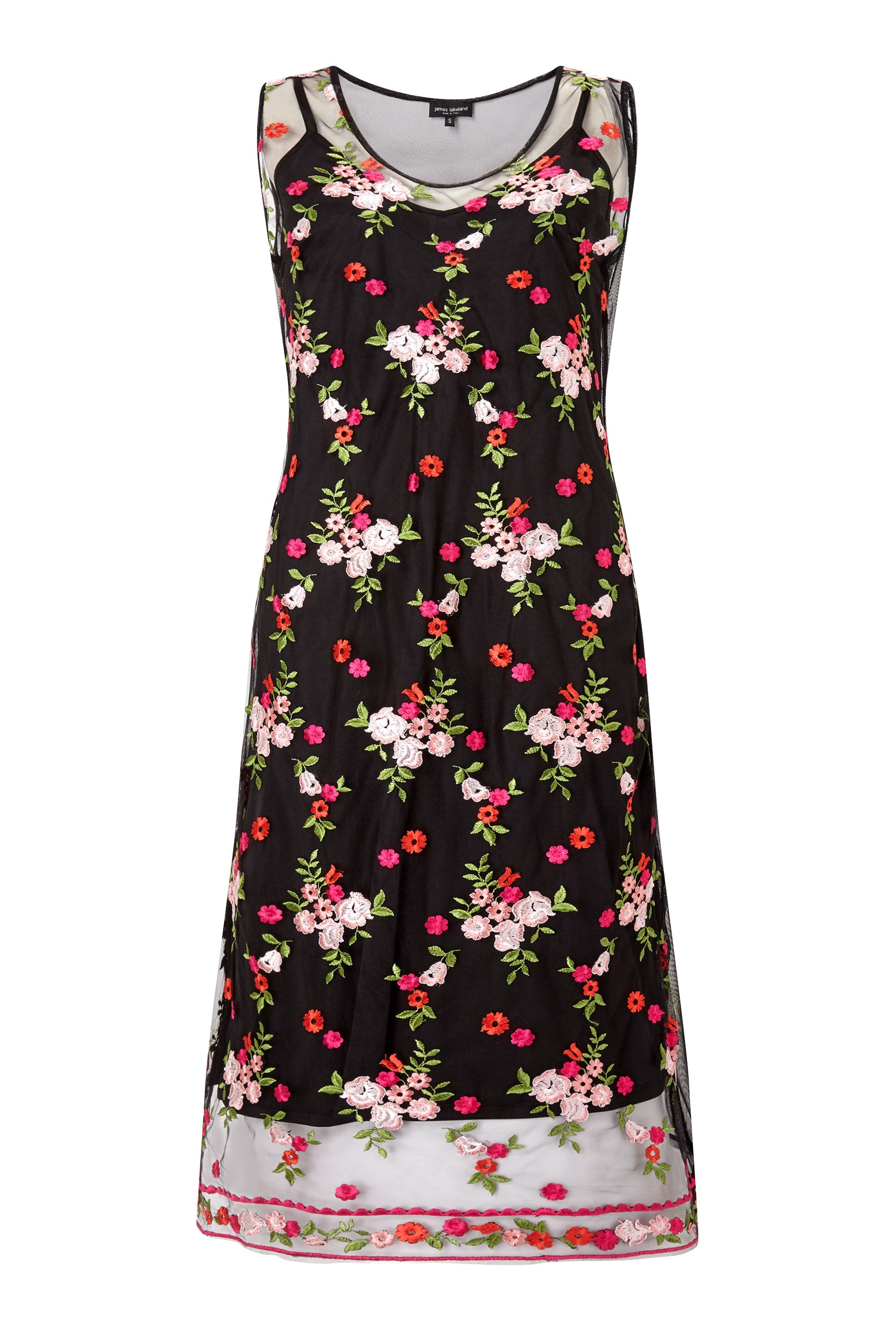 James Lakeland Embroidered Midi Dress, Black
