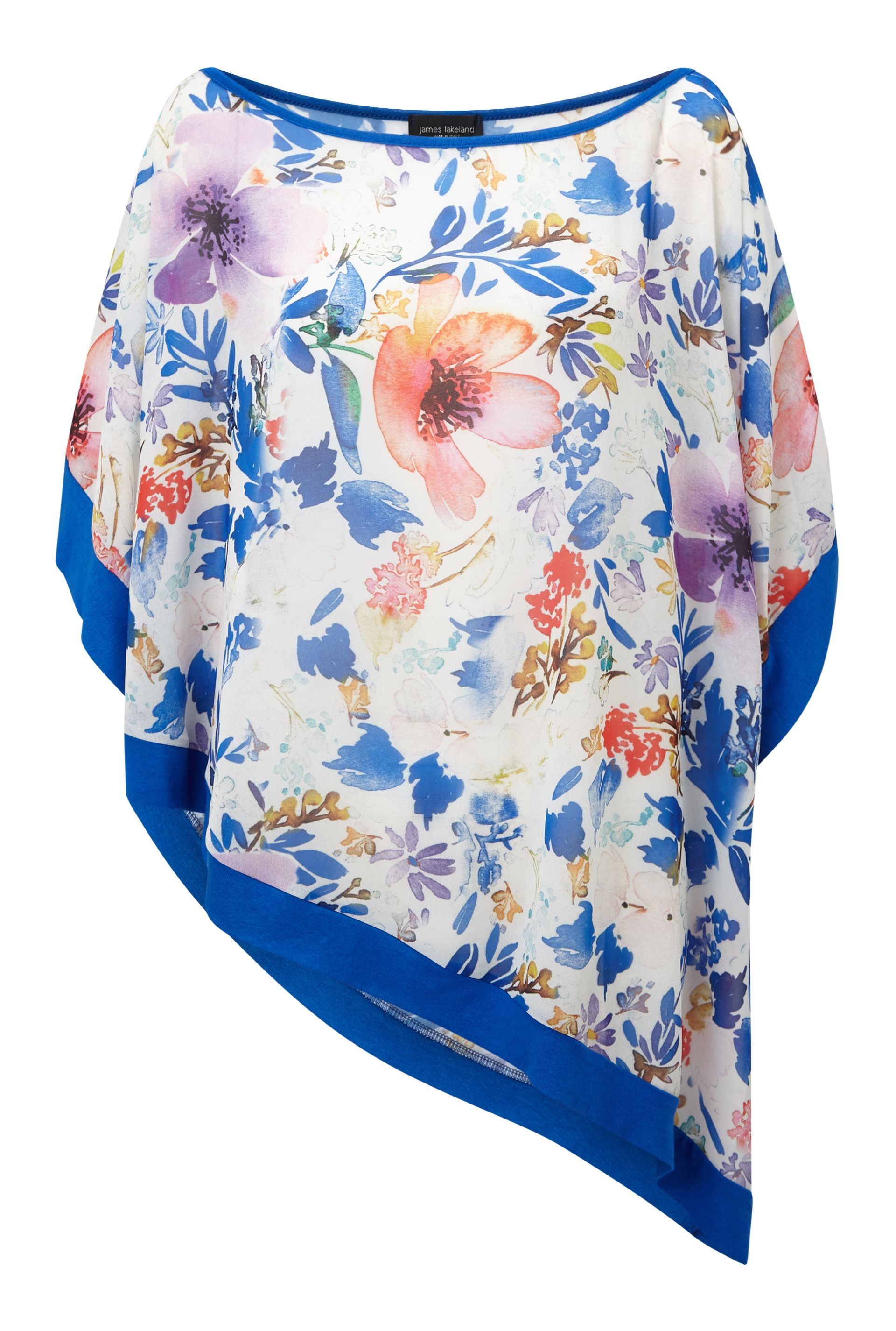 James Lakeland Floral Print Loose Blouse, Multi-Coloured