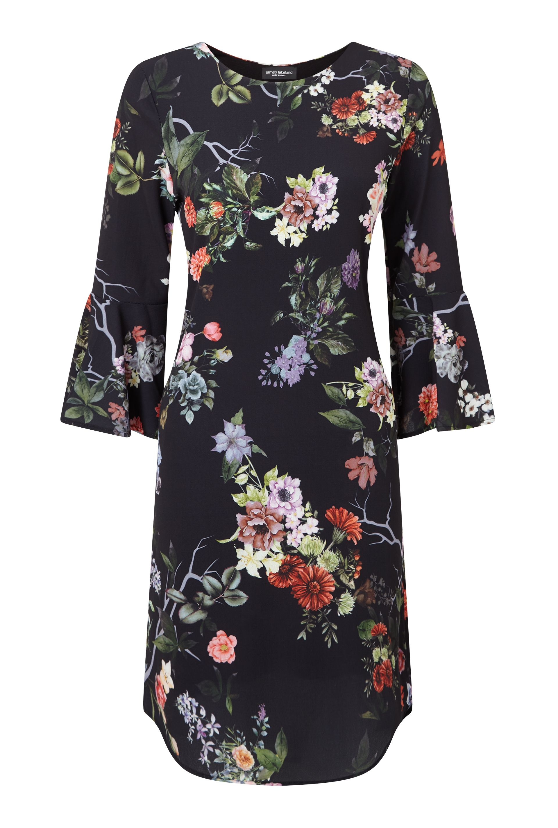 James Lakeland Floral Print Dress, Black