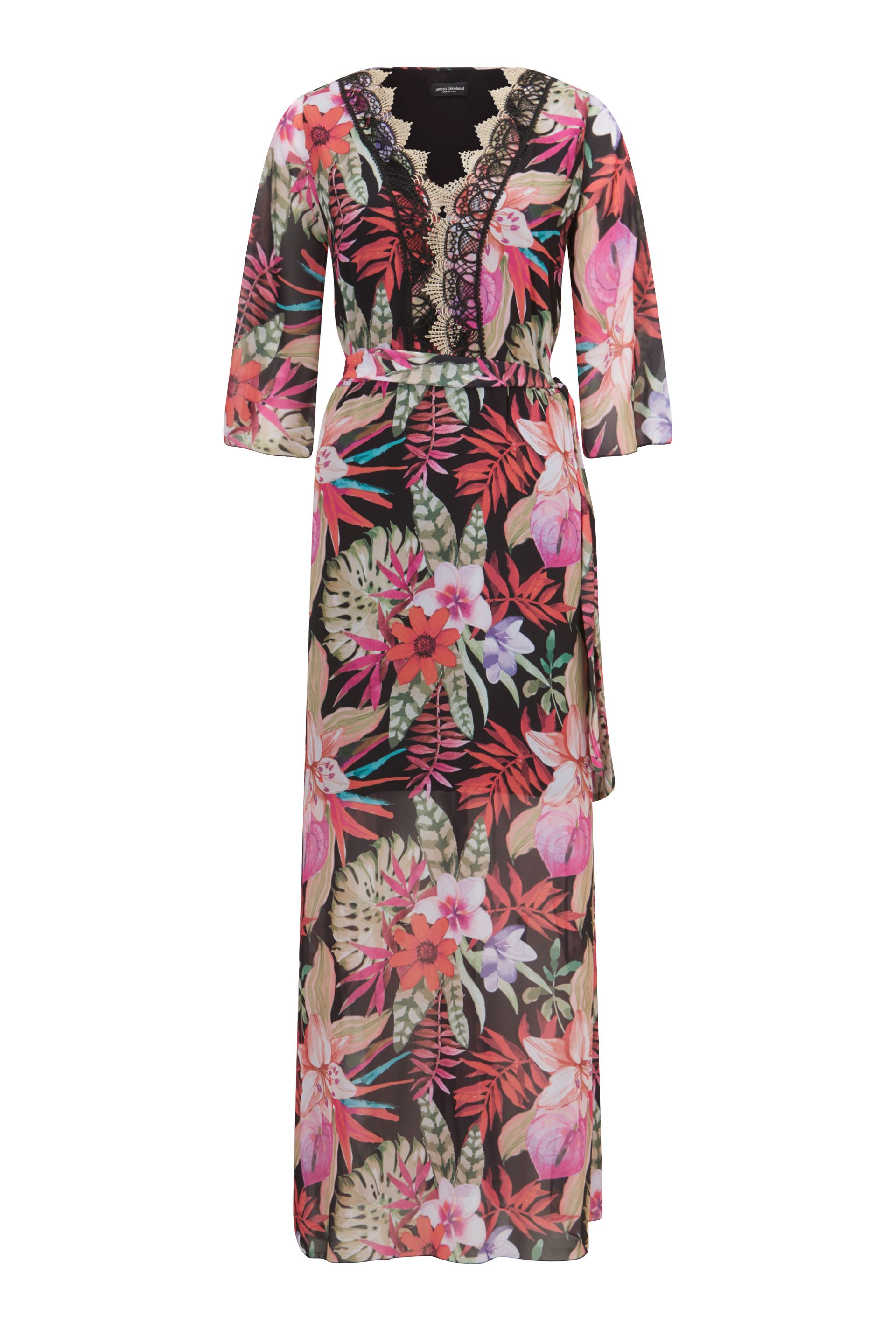 James Lakeland Floral Print Maxi Dress, Black