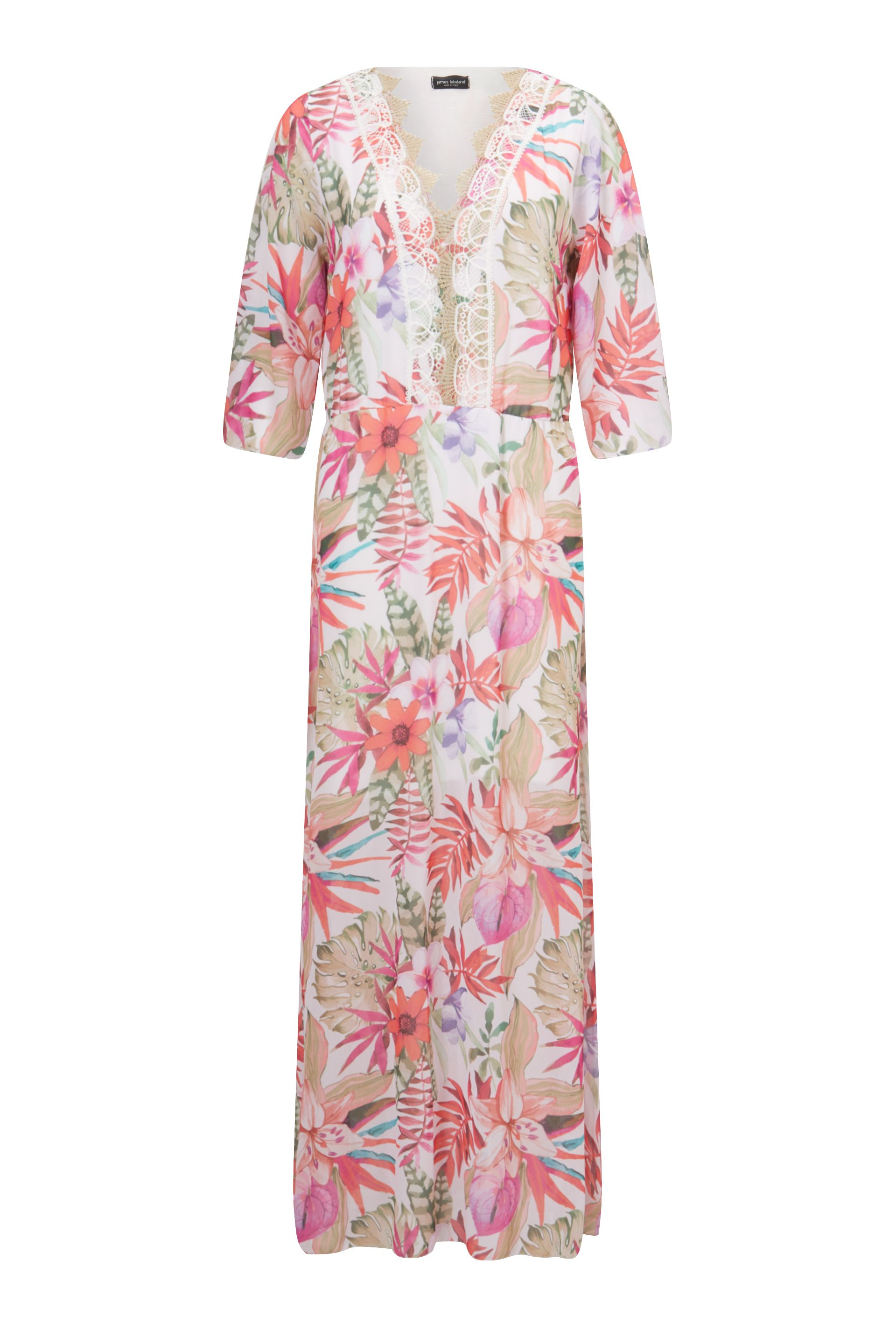 James Lakeland Floral Print Maxi Dress, Cream