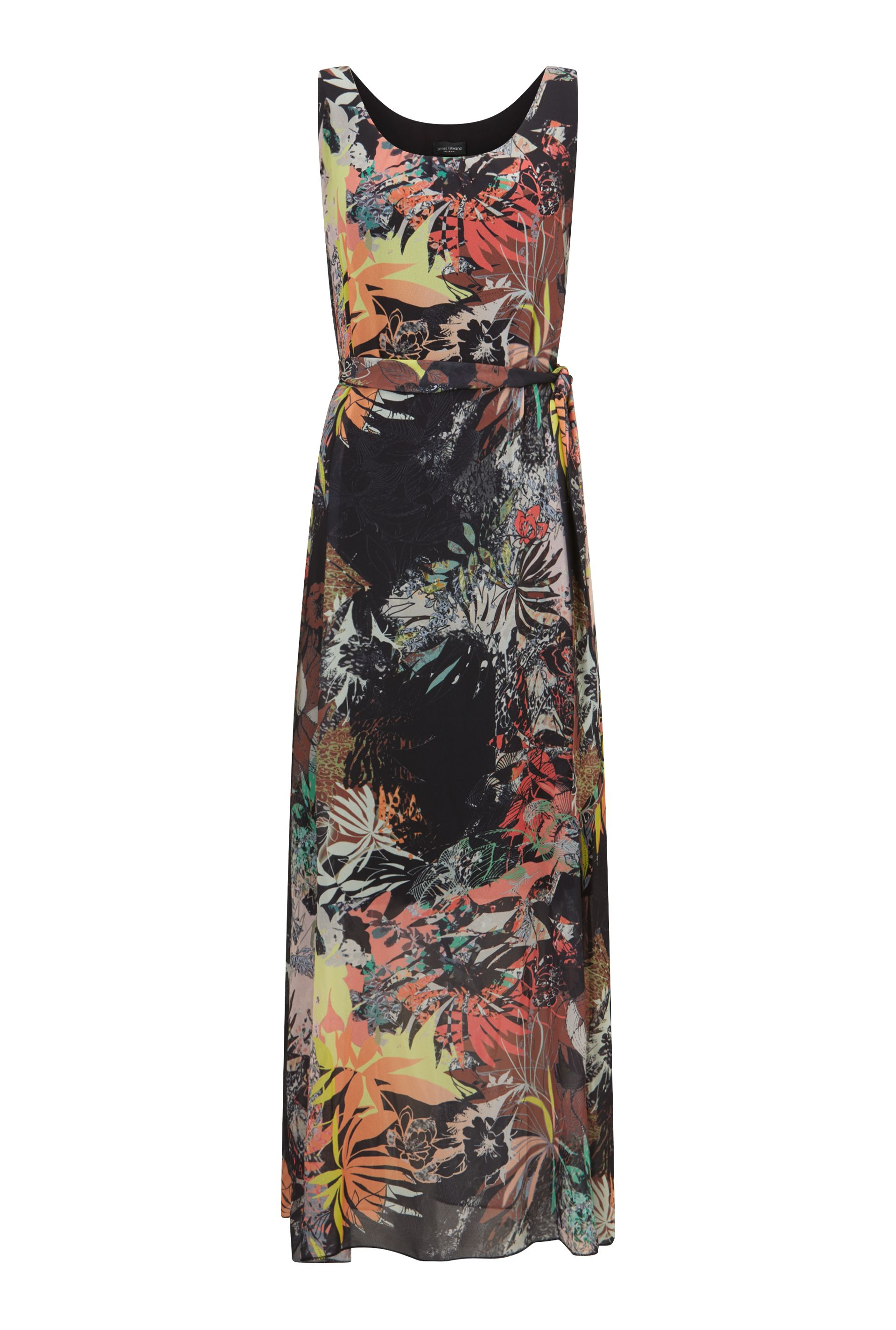 James Lakeland Printed Maxi Dress, Black