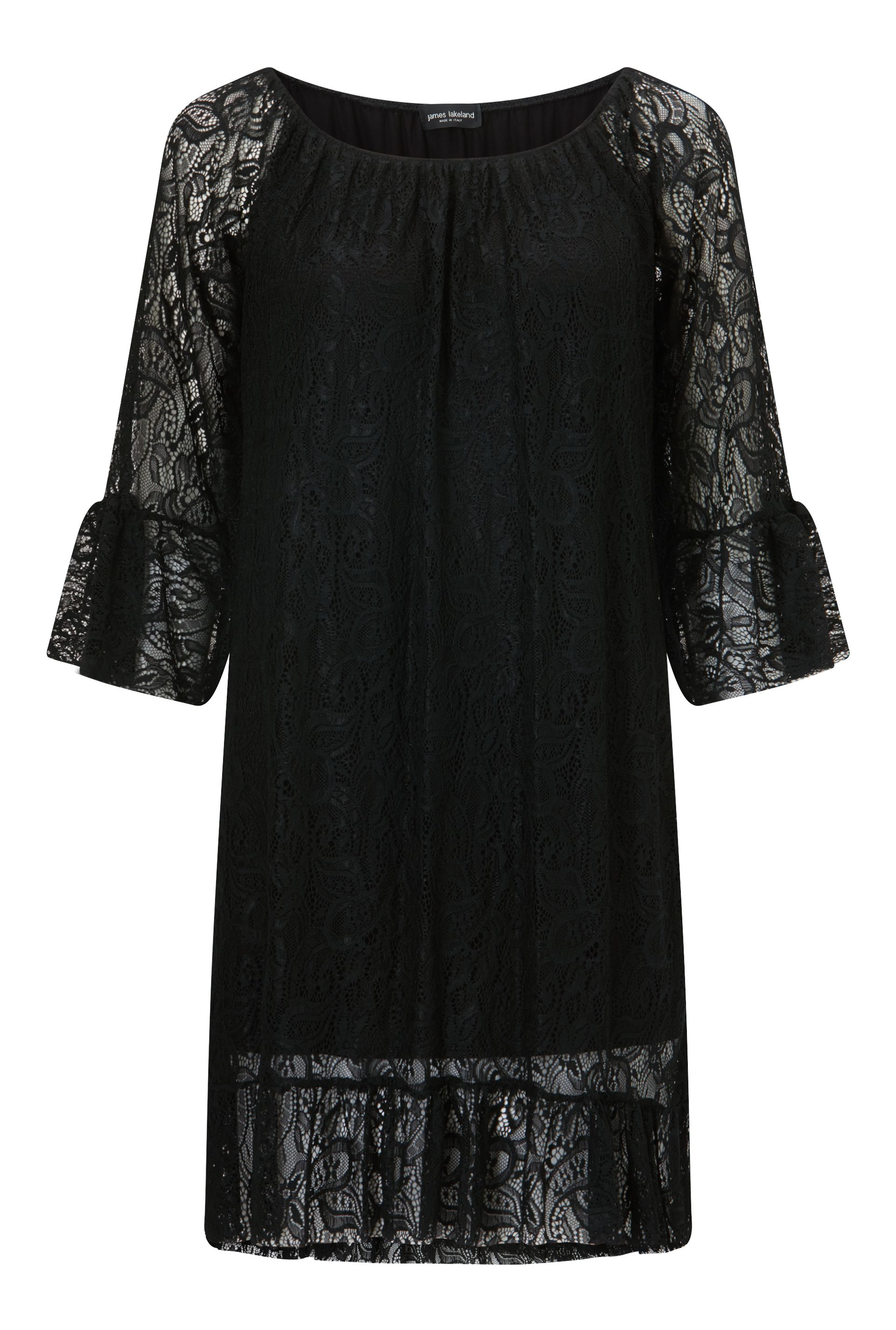 James Lakeland Lace Dress, Black