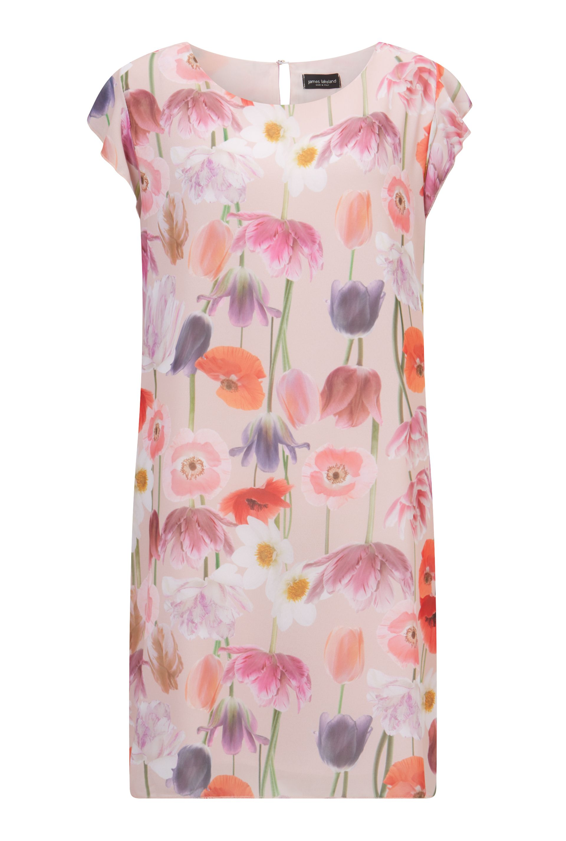 James Lakeland Floral Cold Shoulder Dress, Pink