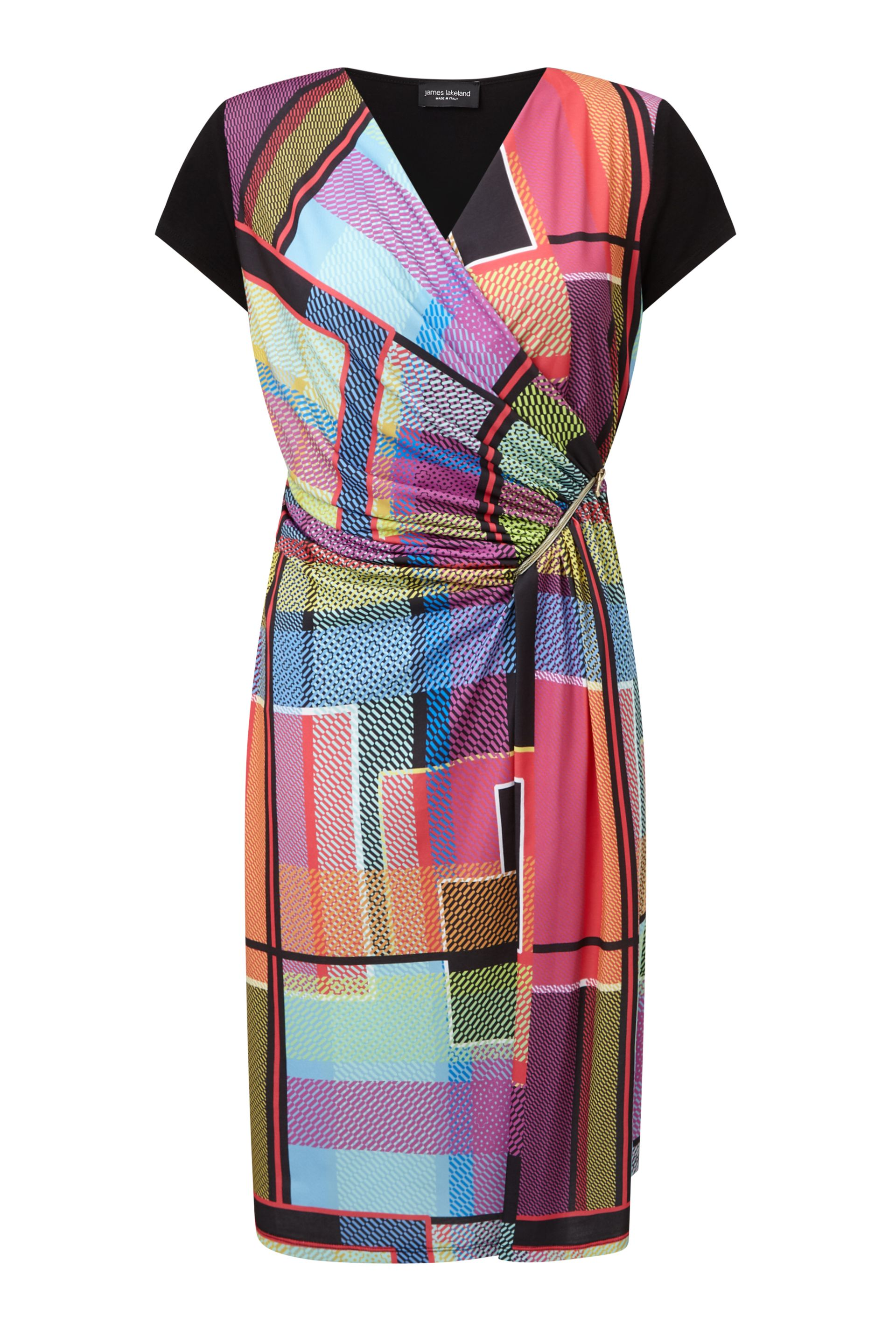 James Lakeland Graphic Print Zip Dress, Multi-Coloured