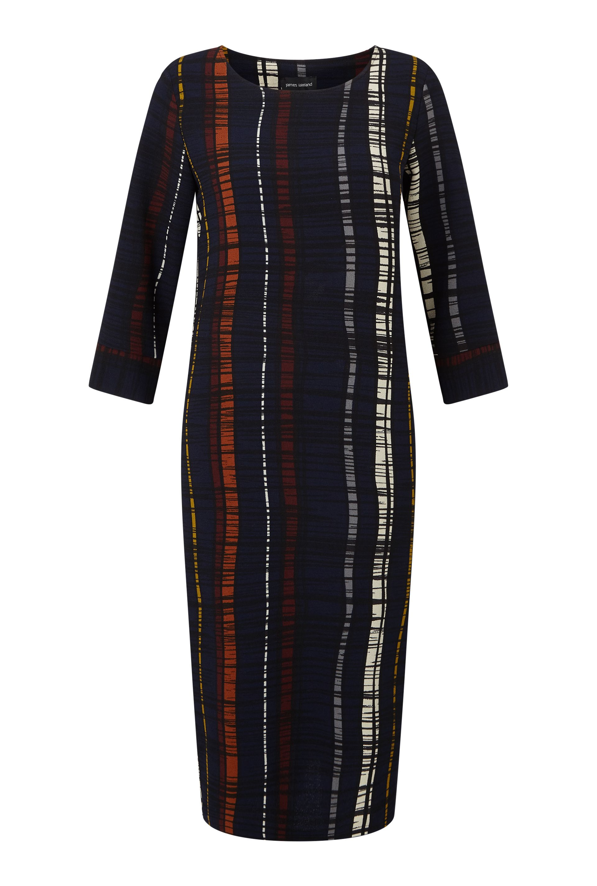 James Lakeland Stripe Print Dress, Blue