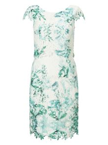 Jacques Vert Petite Printed Lace Dress