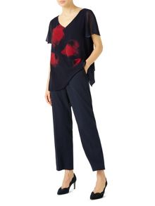 Jacques Vert Poppy Print Placement Tunic