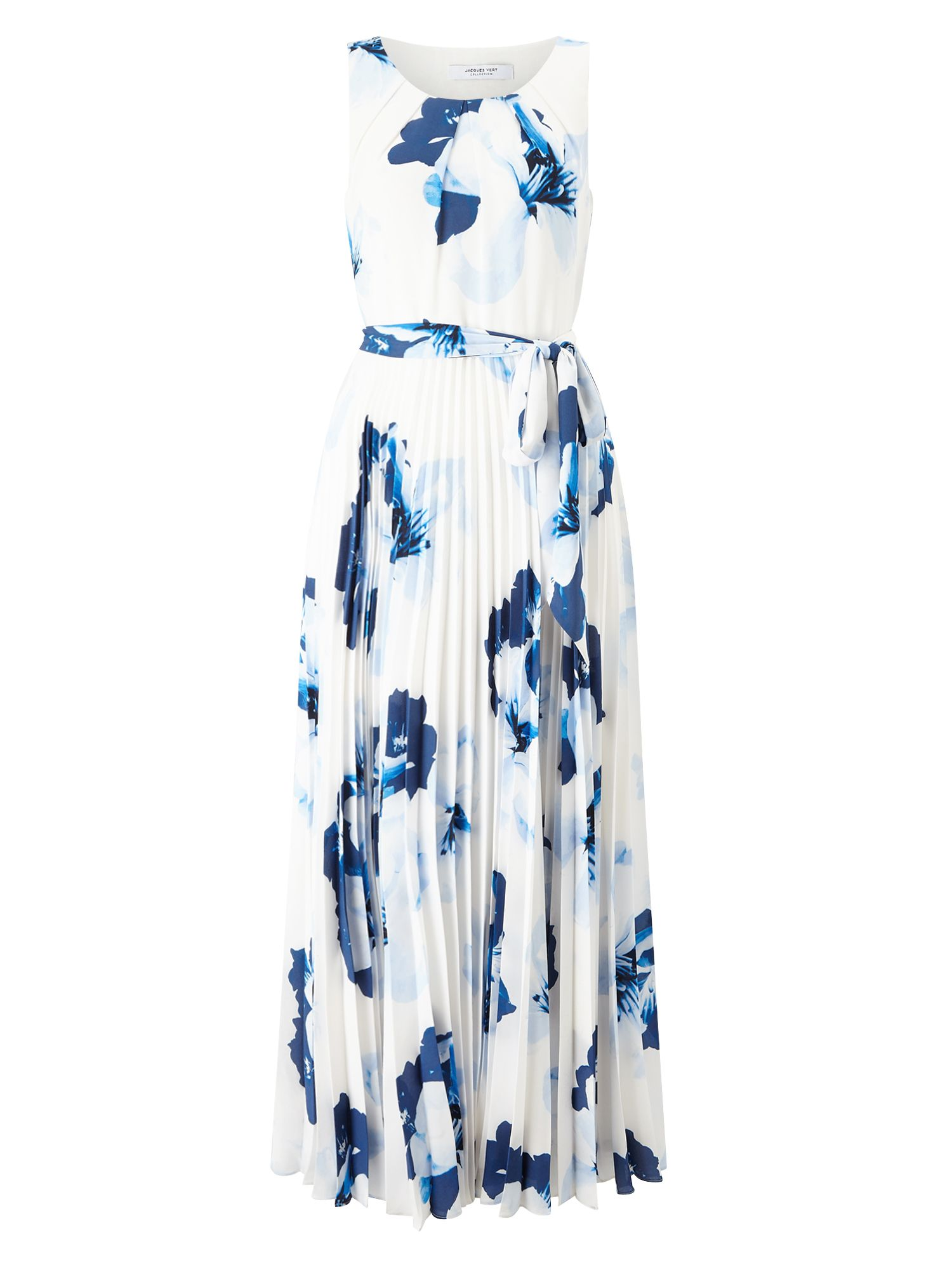 Jacques Vert Print Plise Maxi Dress, Multi-Coloured