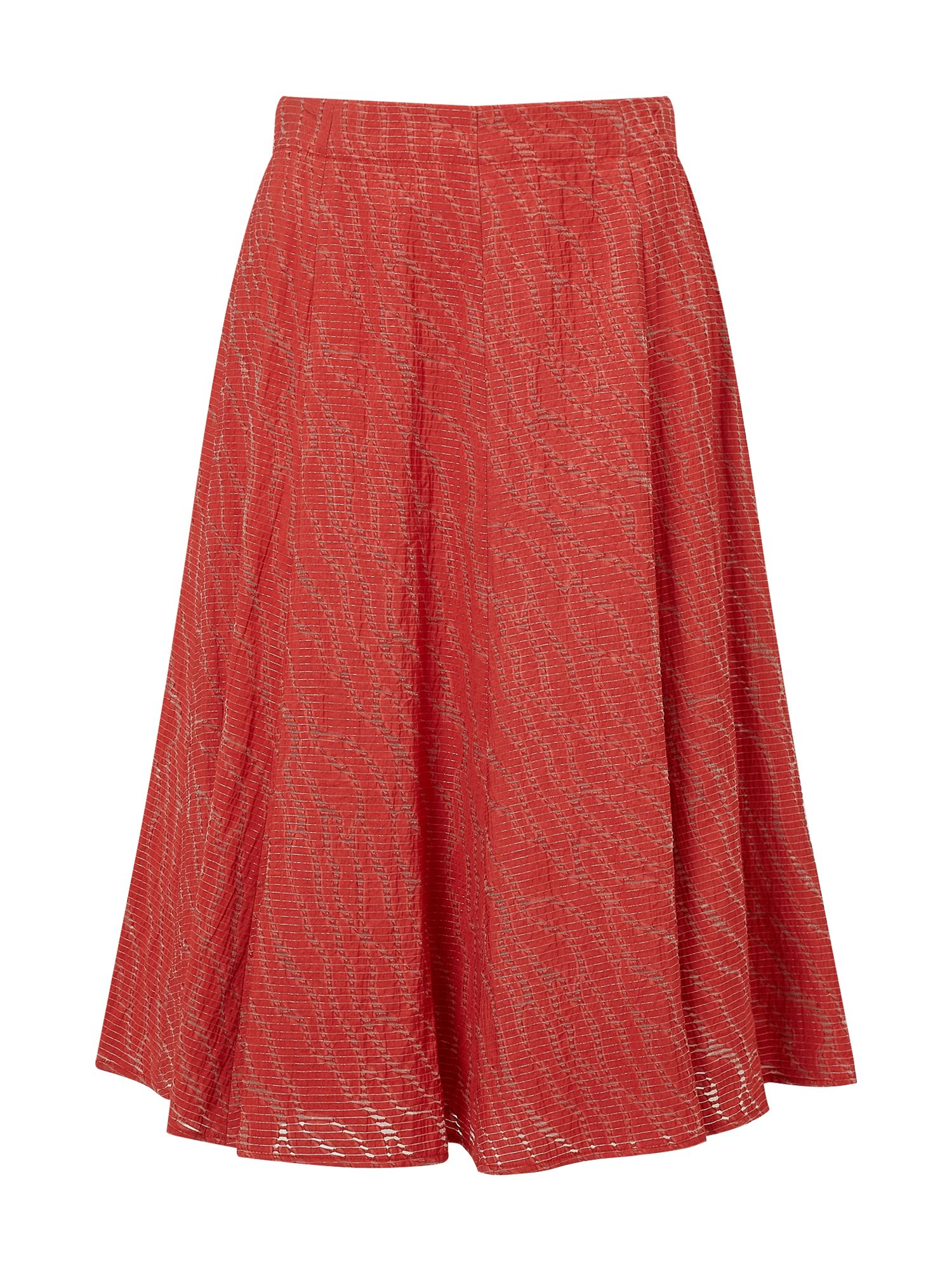 Eastex Burnout A-Line Skirt, Red