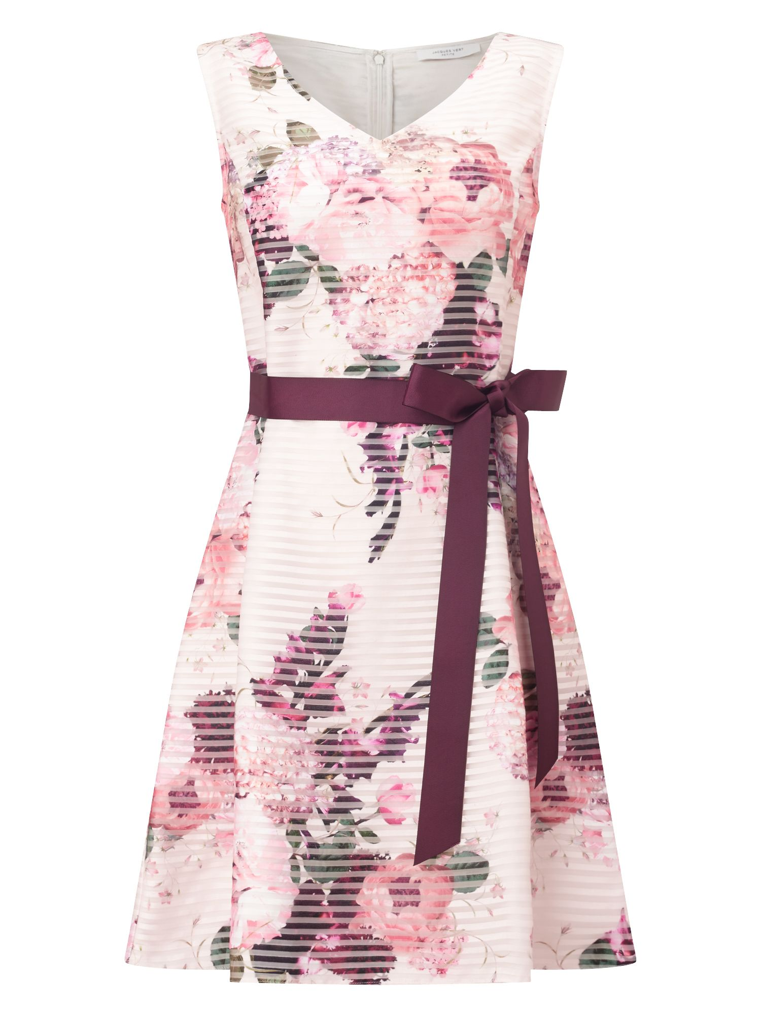 Jacques Vert Petite Floral Burnout Dress, Multi-Coloured
