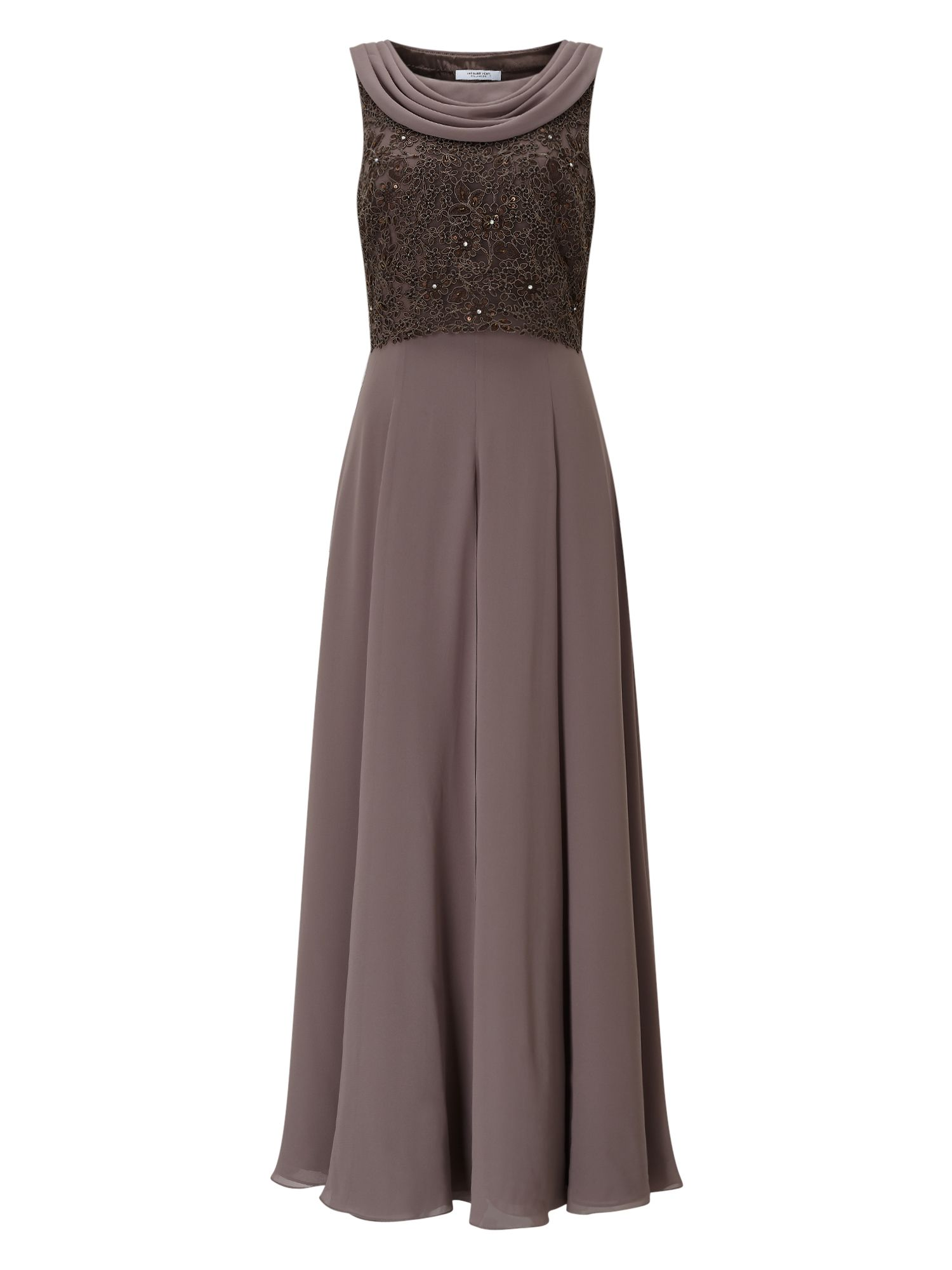 Jacques Vert Sequin Georgette Maxi, Neutral