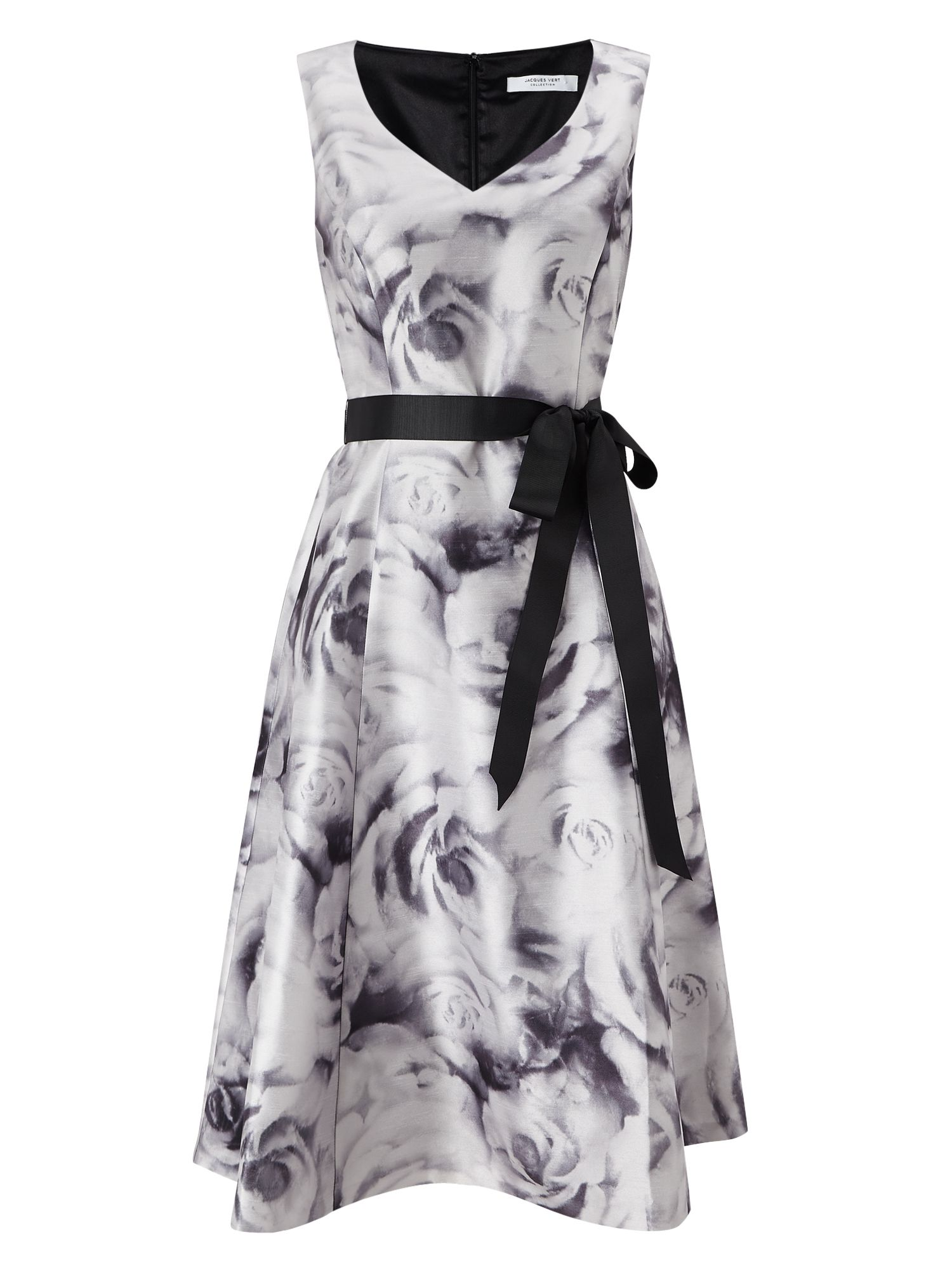 Jacques Vert Rose Print Prom Dress, Multi-Coloured