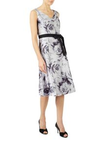 Jacques Vert Rose Print Prom Dress