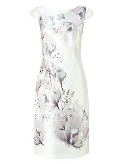 Print Embellish Shift Dress