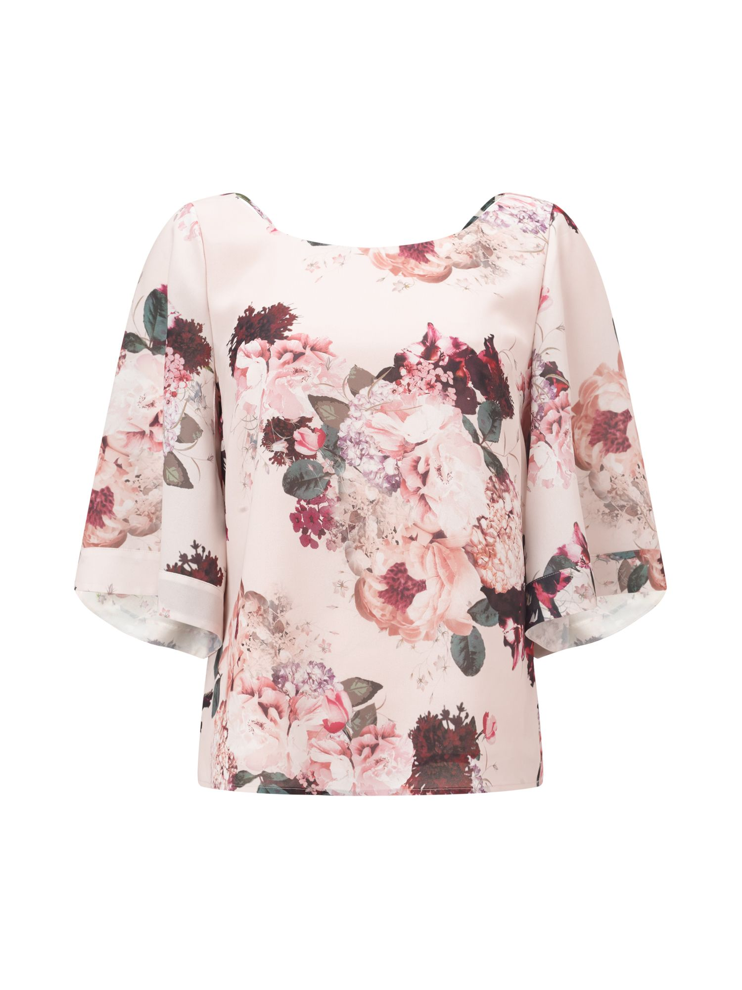 Jacques Vert Petite Kyoto Bloom Blouse, Multi-Coloured