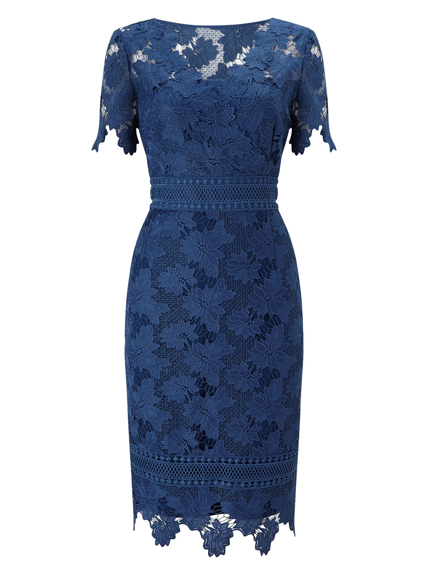 Jacques Vert Lace Dress, Blue